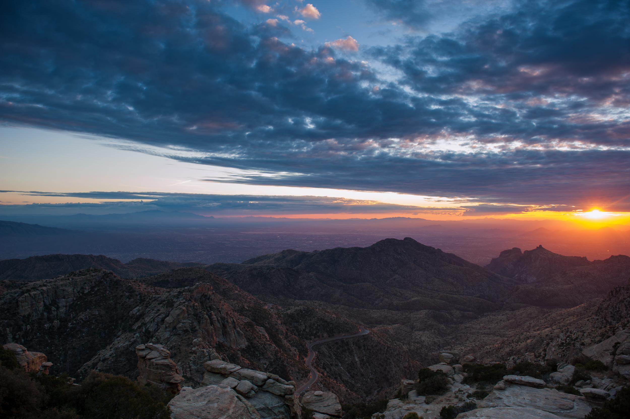 Mt Lemmon clouds and sun-1.jpg