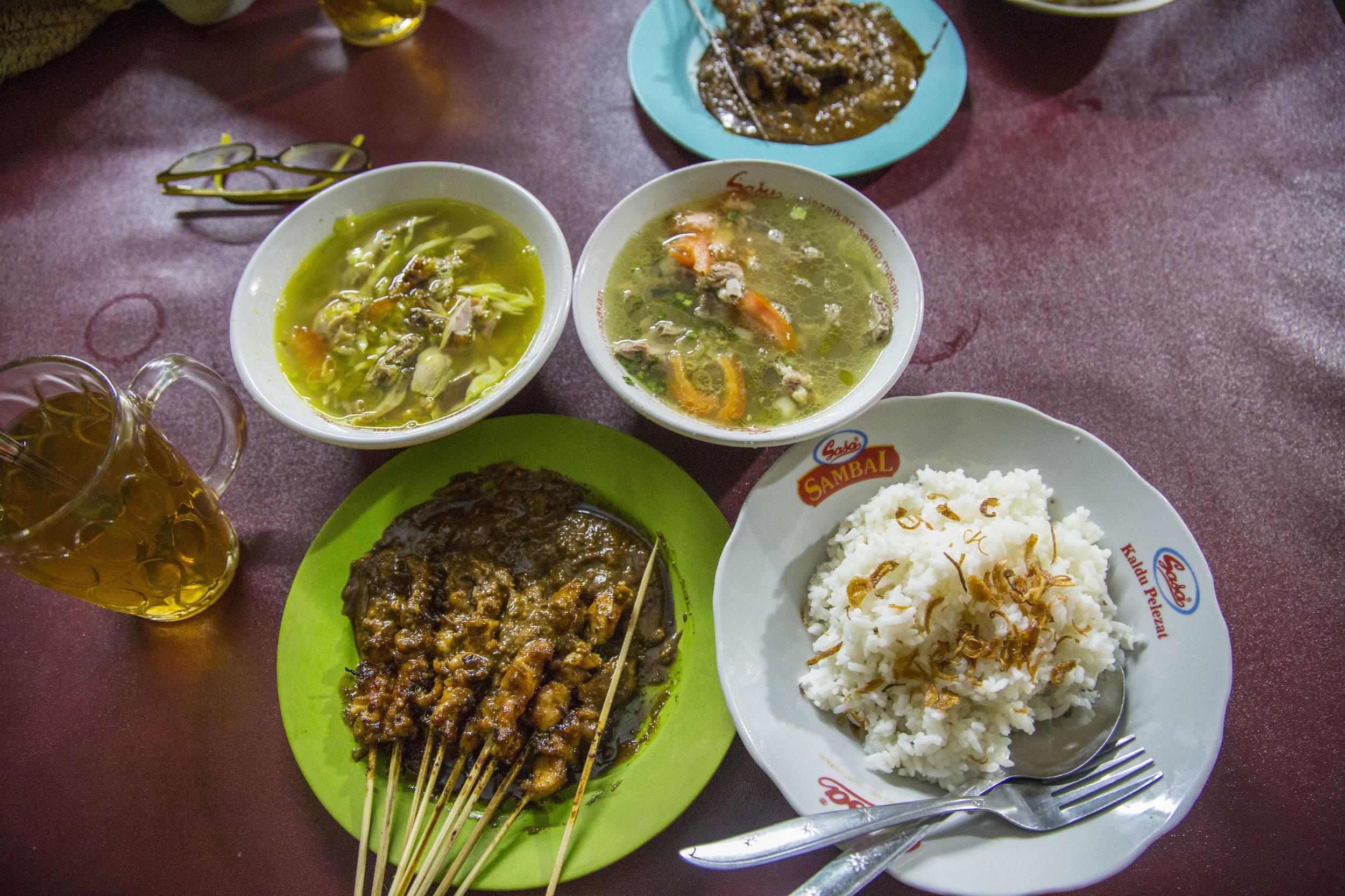 Satay and soup