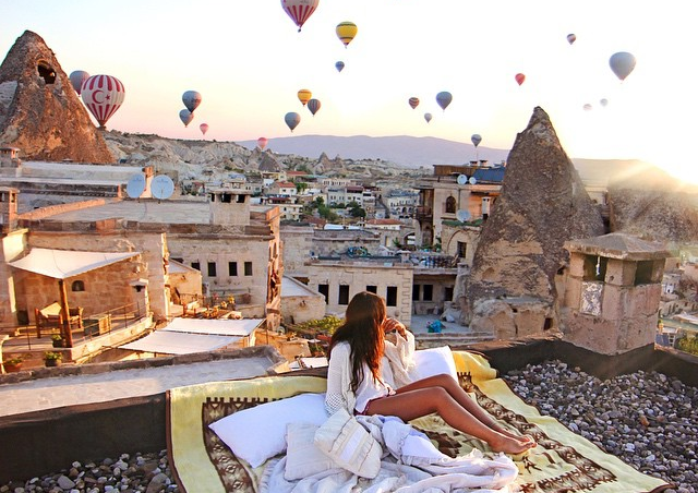 Cappadocia at sunrise