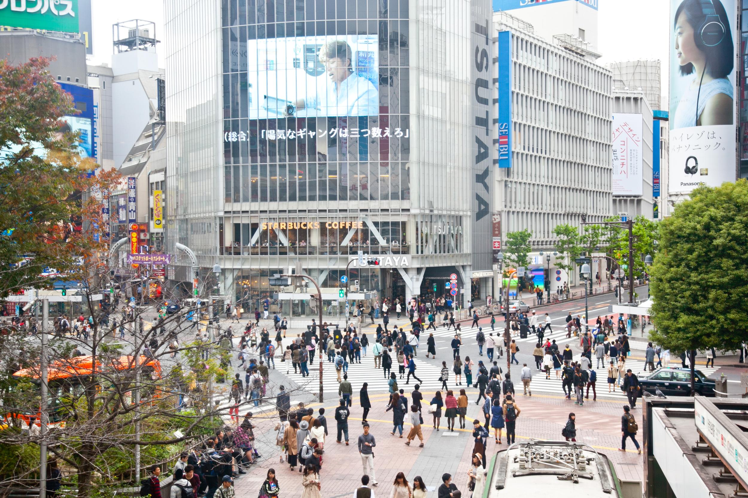 Shibuya Crossing  (as seen from Shibuya Station)