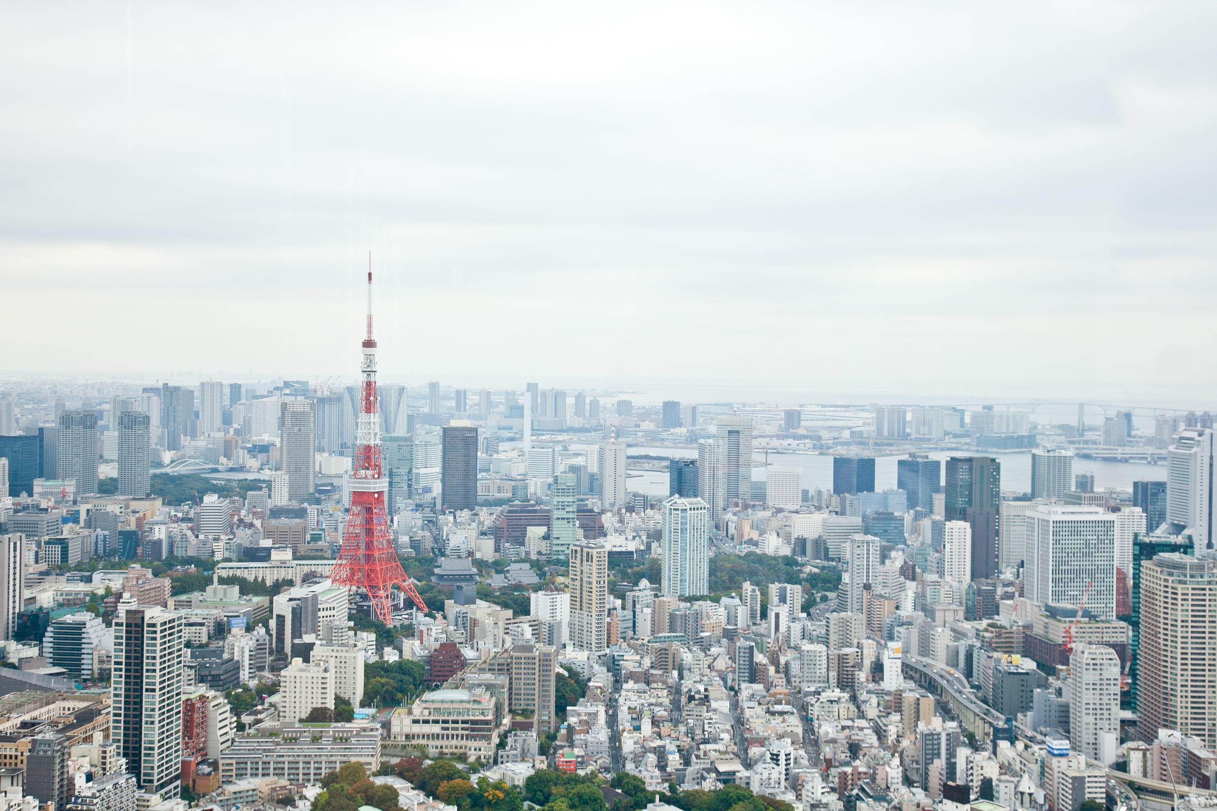 The view from the  Tokyo City View  observation deck in Mori Art Museum at Roppongi Hills