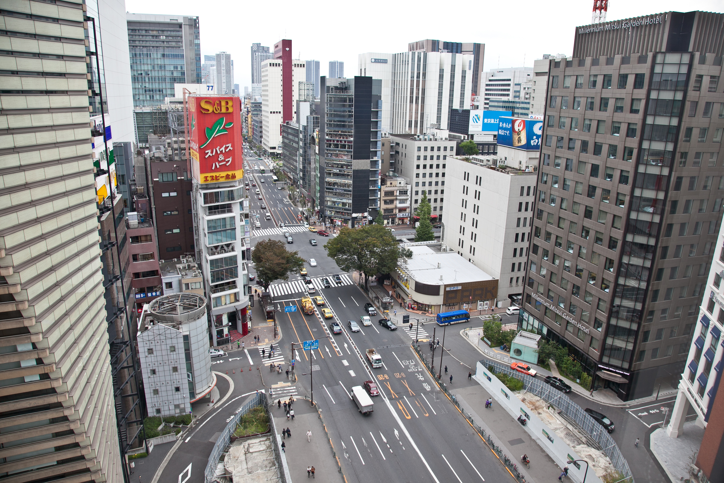 The  Ginza  district of Tokyo