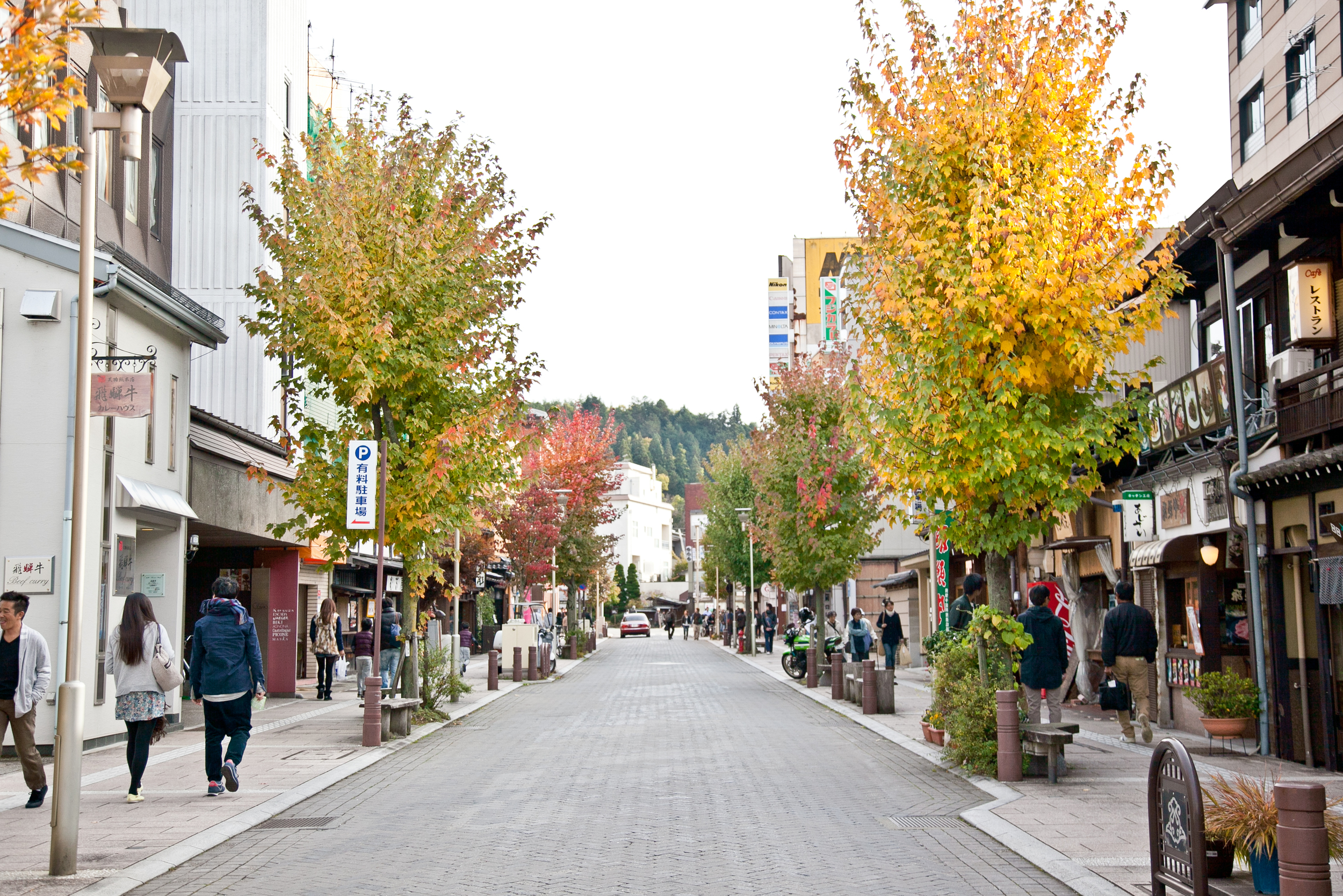 October in  Takayama , as well as most of central Japan, bring beautiful foliage