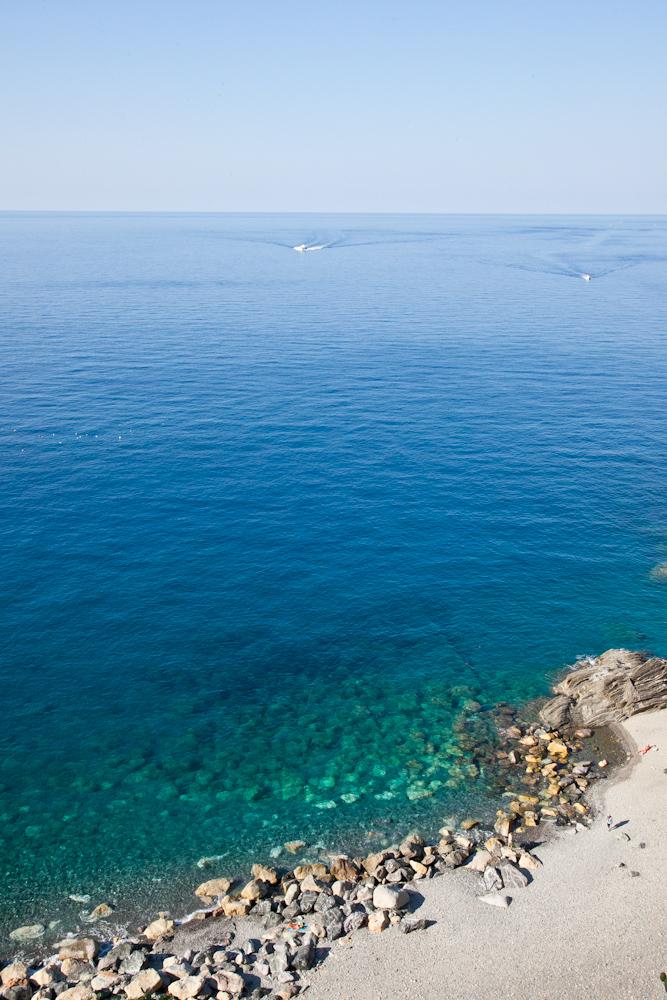 The beach in Vernazza