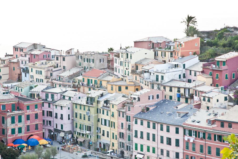 The facades of Vernazza