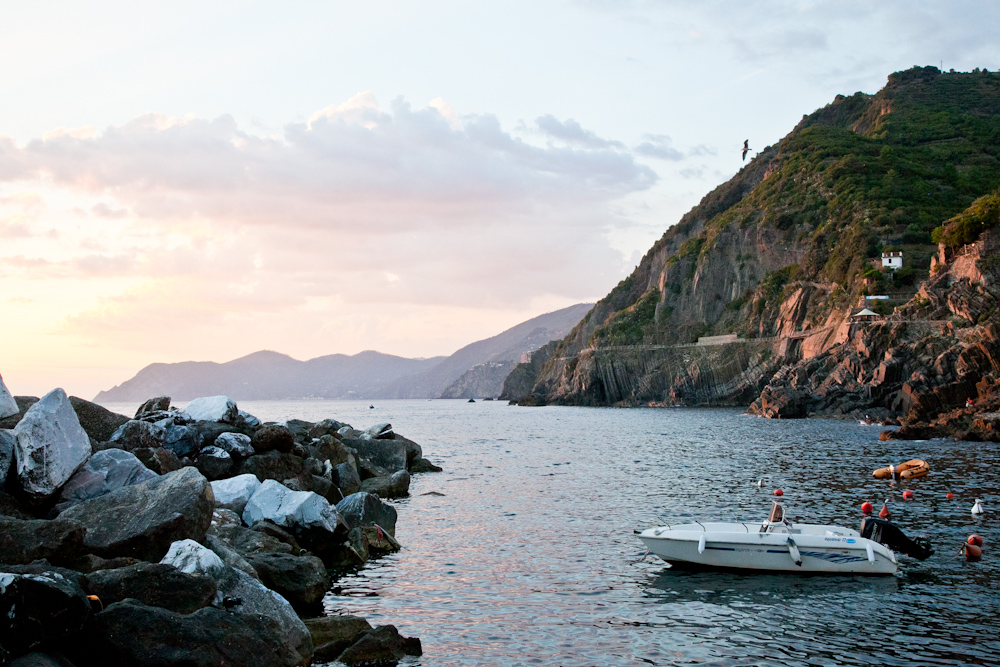 Riomaggiore's marina