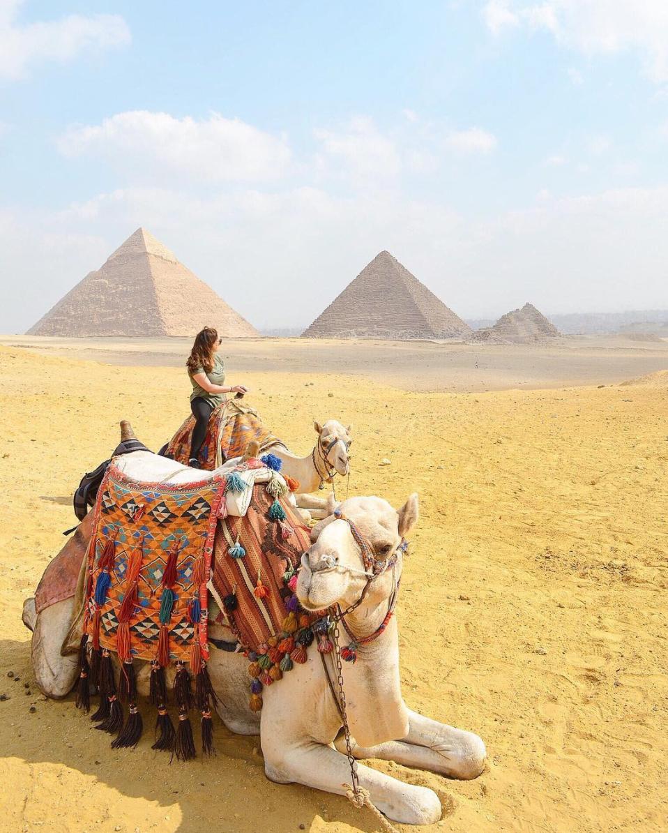 The Pyramids of Giza  via  Brittany Toney