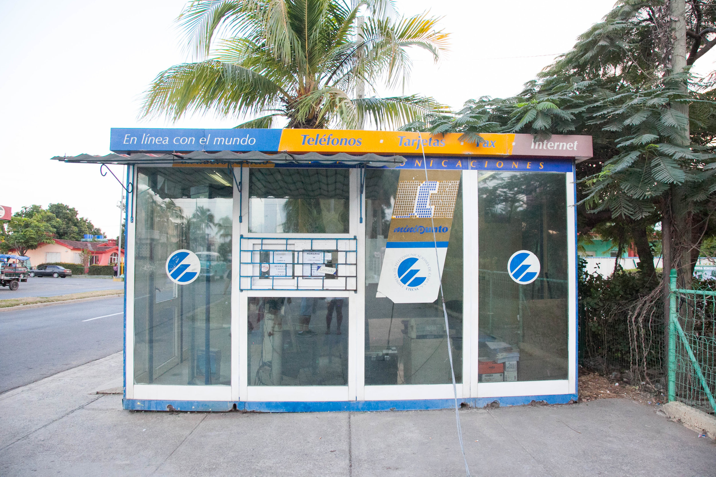 Etecsa booth, where you can buy a Wi-Fi, in Cienfuegos