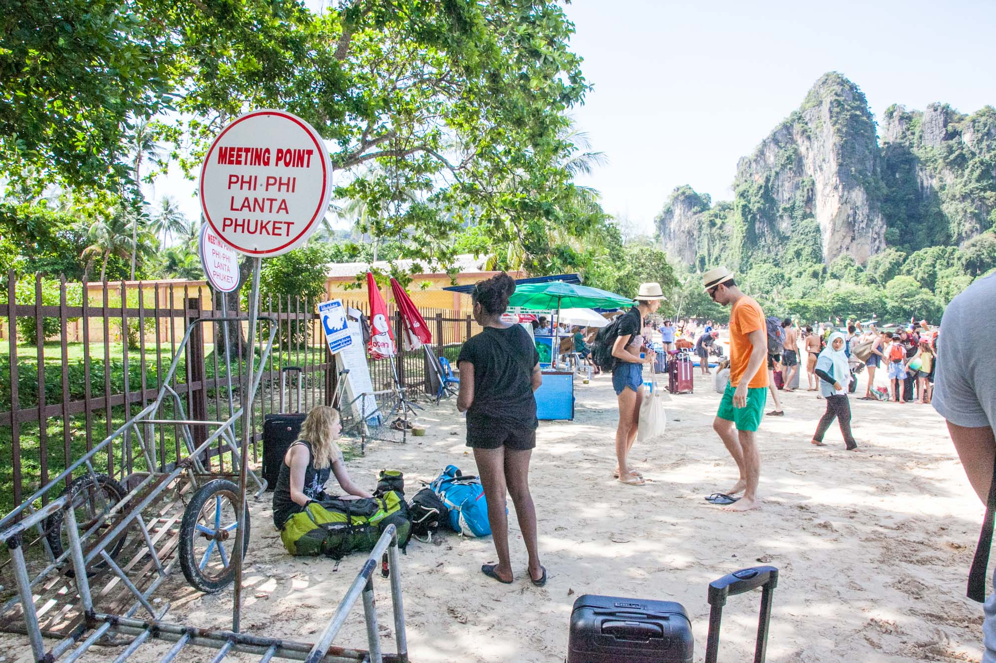 Meeting point on Railay Beach West