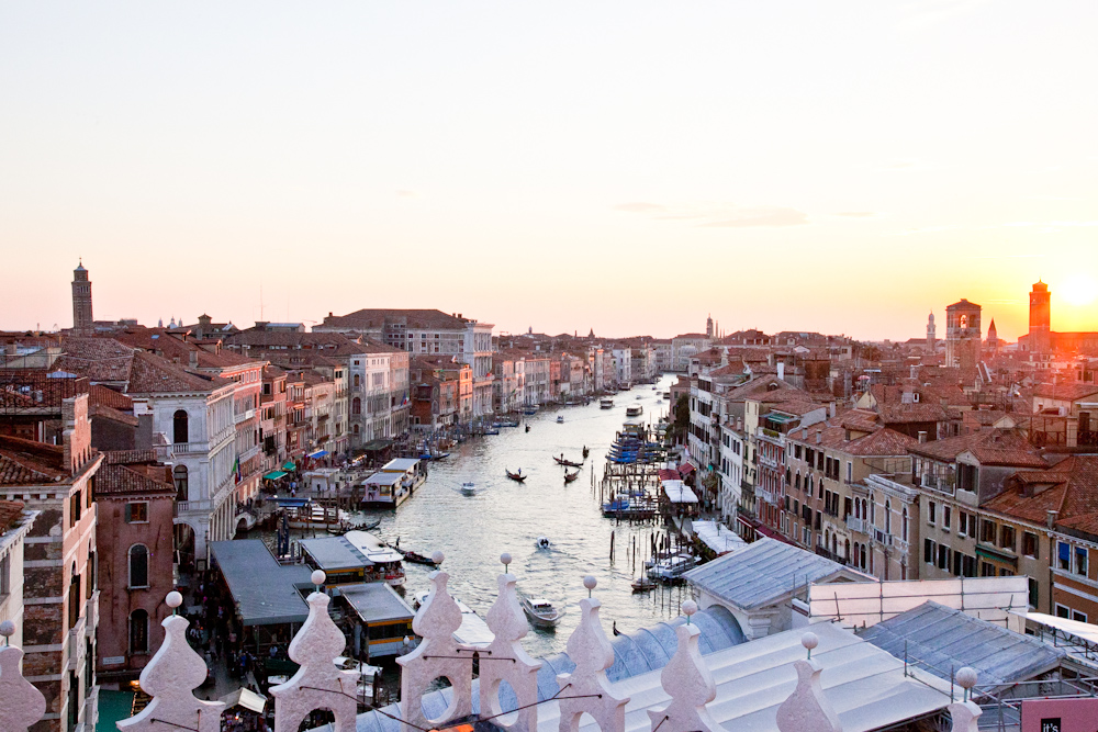 Venice - To anyone who has seen a picture of Venice, it's no surprise that it is one of the most magical cities in the world. You could spend all day wandering your way through the city's maze-like streets, alleyways and canals.