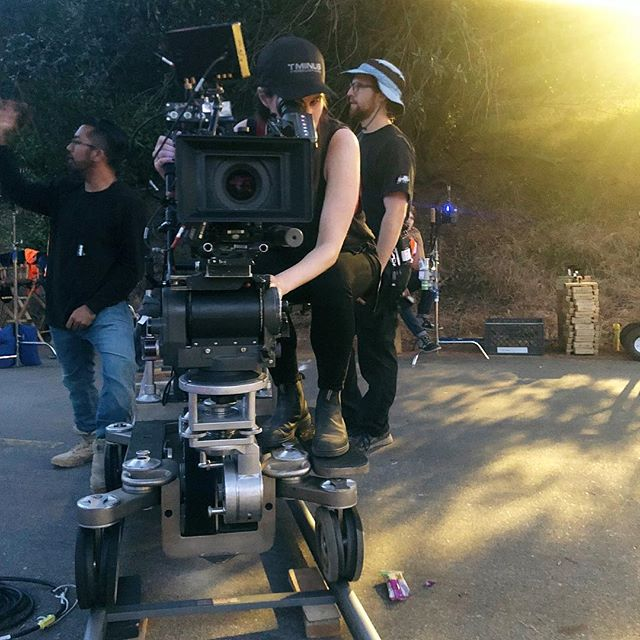 Female Filmmaker Friday | June 2018 | LIGHT AS A FEATHER | Los Angeles | California #lightasafeather #femalefilmmakerfriday @awesomenesstv @hulu @panavisionofficial #frameup #pilot #director 📷 by @bryan_koss