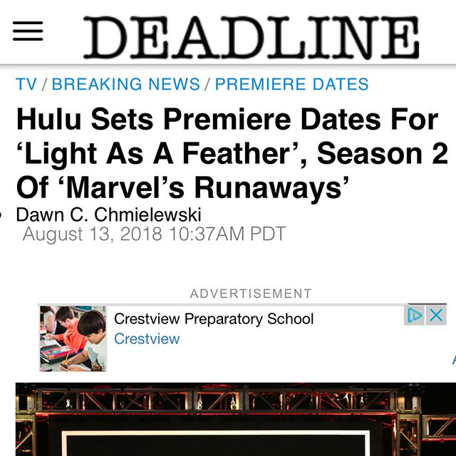 LIGHT AS A FEATHER written by the fiercely talented @milconn premieres on @hulu October 12! Excited for the world to see this one! All episodes will be released on the premiere date. Grateful to have collaborated and directed on the pilot block and finale block. Thankful and inspired by the crazy talented writers, cast and crew. Tune in! 🎥🎬📺 #hulu #lightasafeather @wattpad @awesomenesstv #grammnetproductions @deadline #director