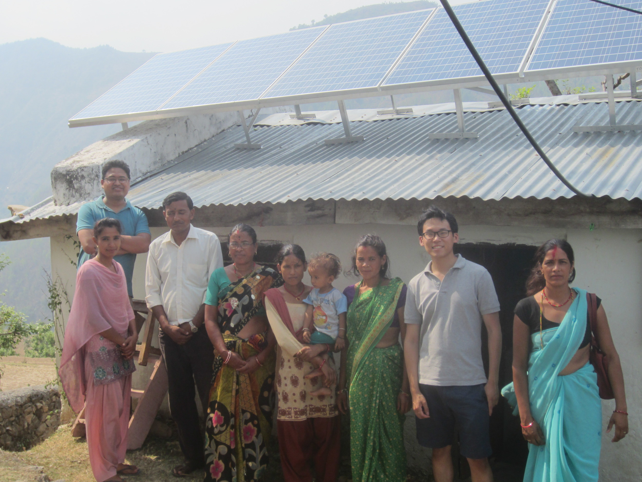 Our very first solar installation - Lungra Health Clinic