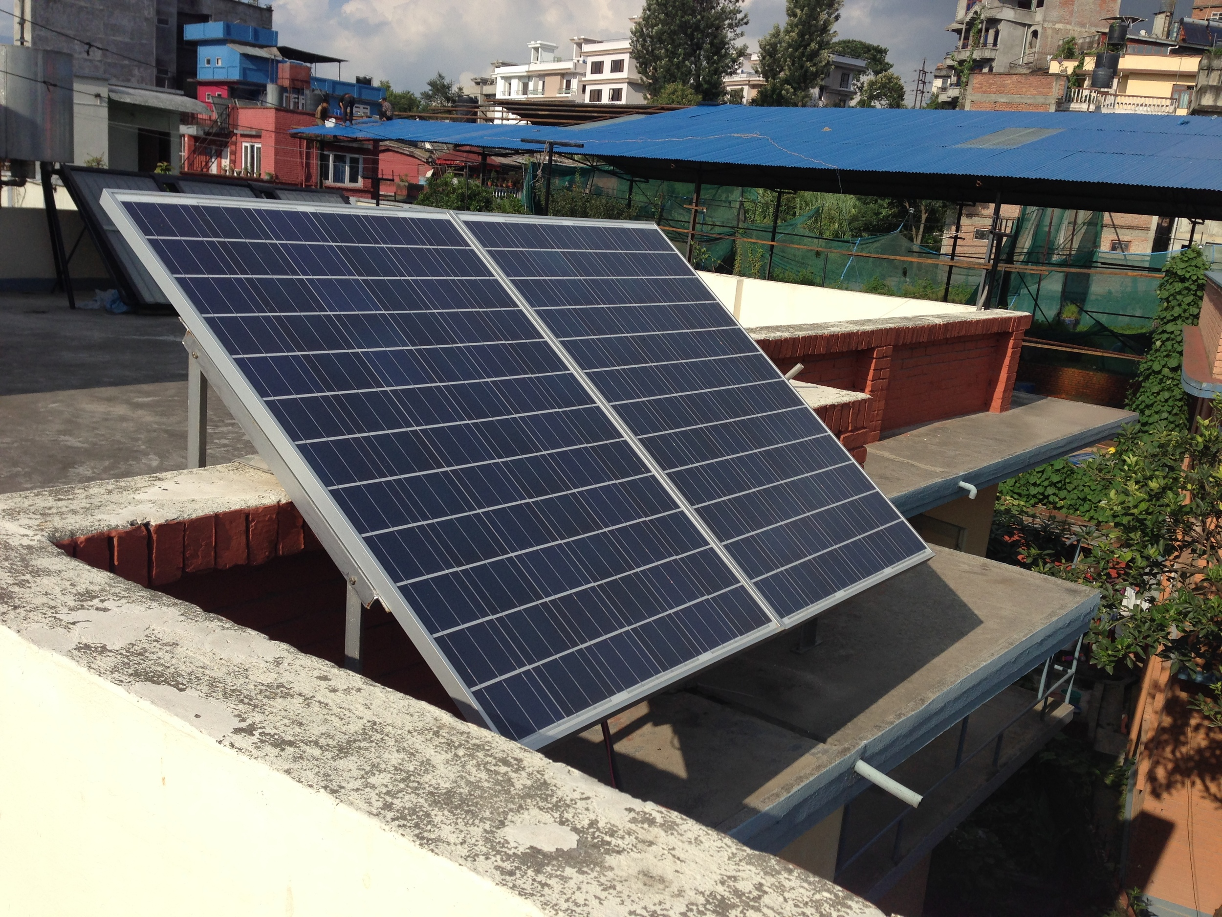Solar backup at the office