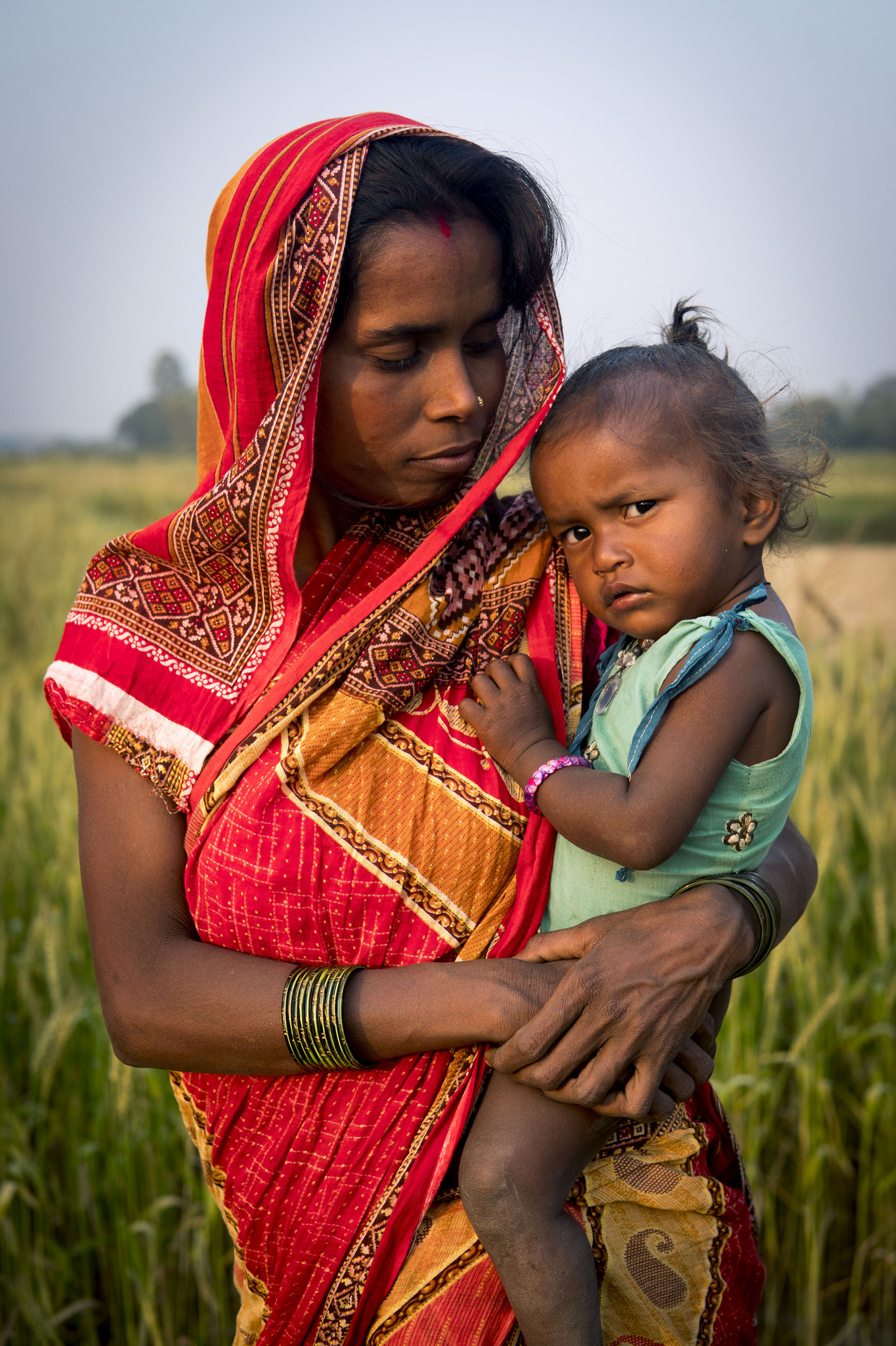 Mother and daughter in Saptari, Nepal. Photographed by Brendan Davis