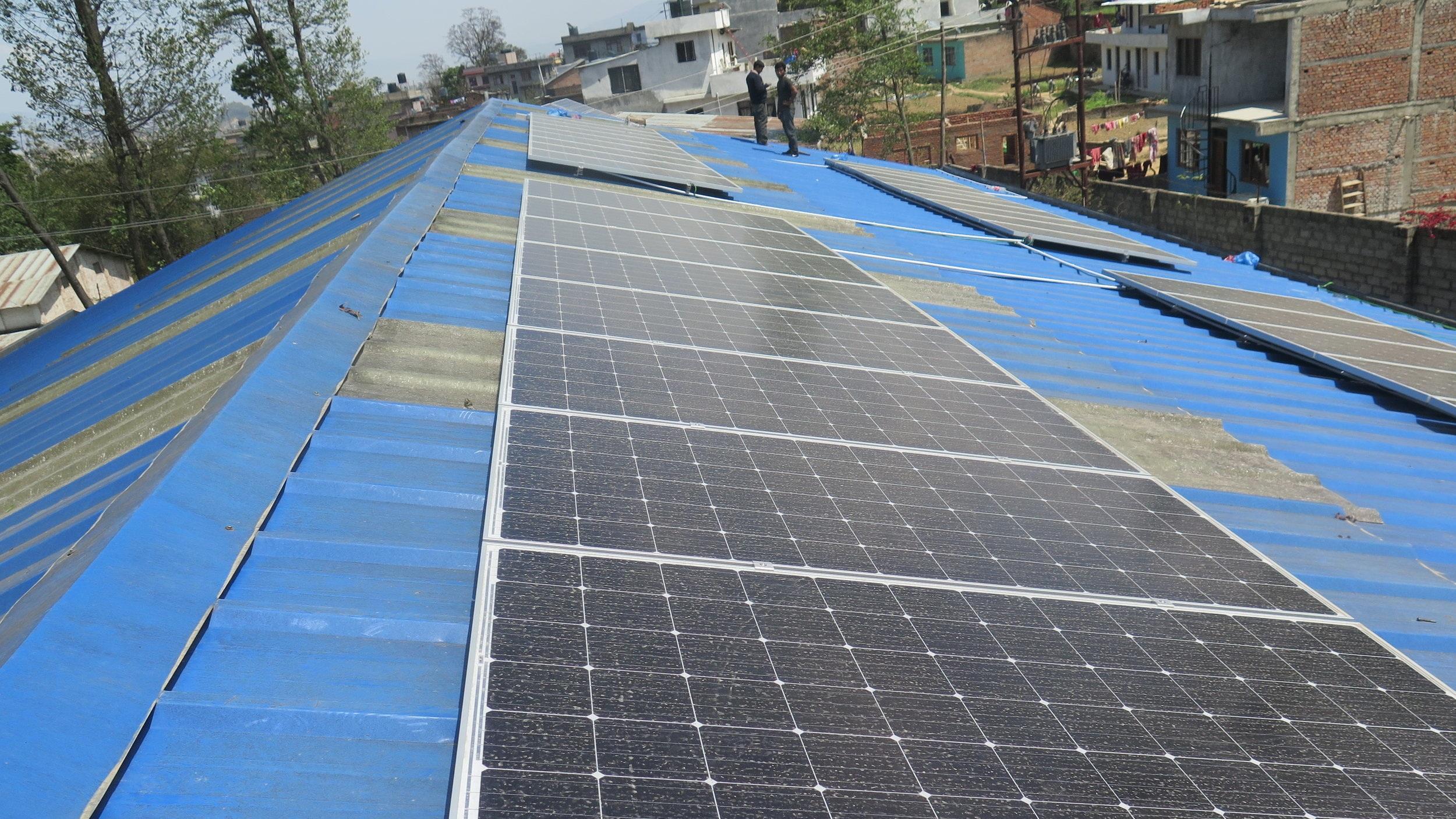Panchakanya SS Thankot  - SFN installed 25 kWp solar PV system at Panchakanya SS Thankot.