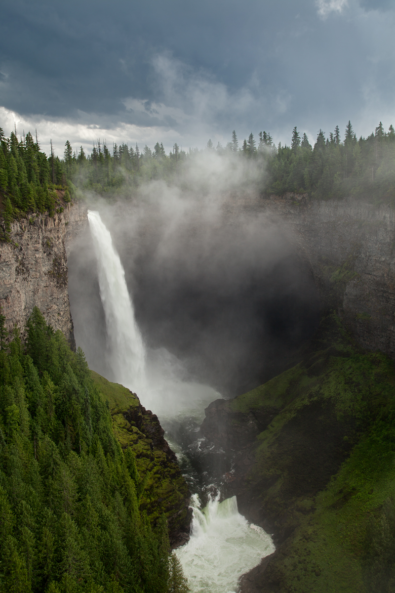 Helmcken Falls, Wells Gray Provincial Park, B.C, Canada.  Image ©Connor Stefanison