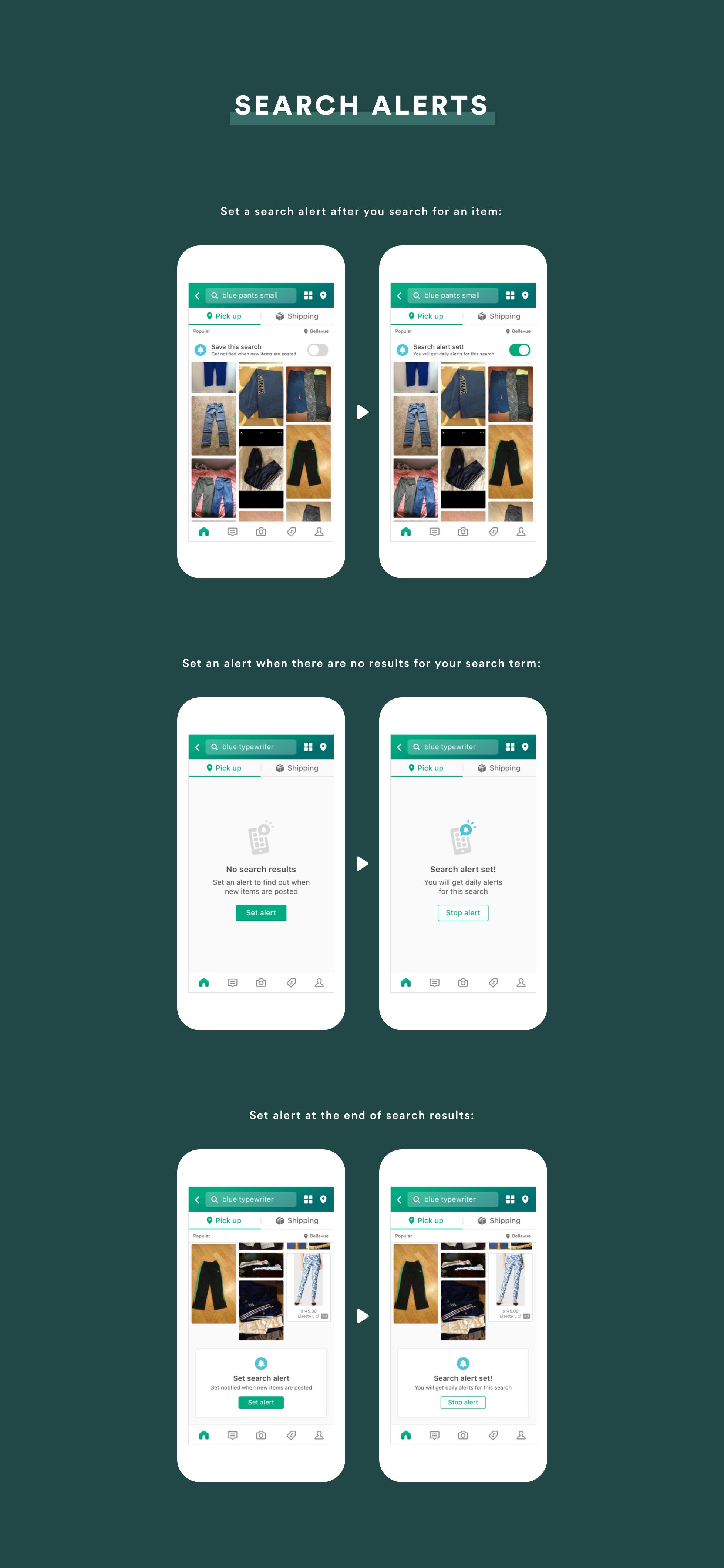 Minna So UX Designer OfferUp Search Alerts
