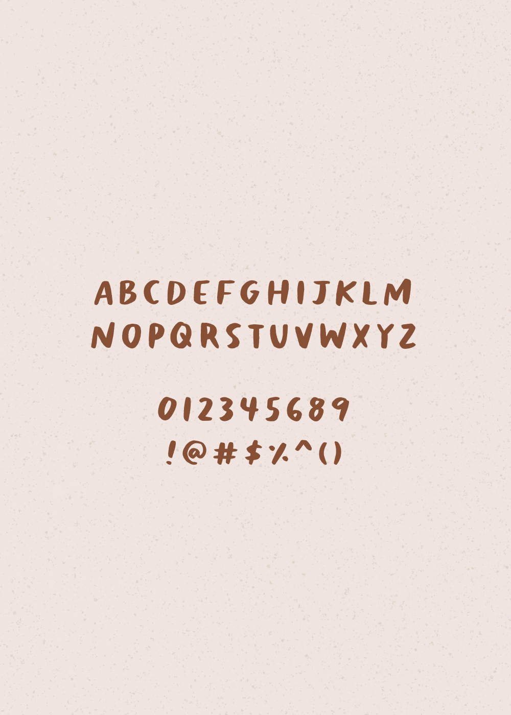 Melony - a brushy handwritten font