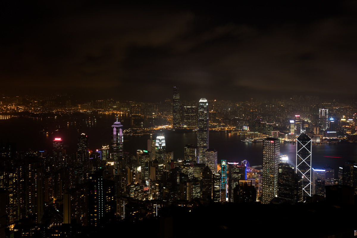 Hong Kong and Victoria Harbour - view from The Peak