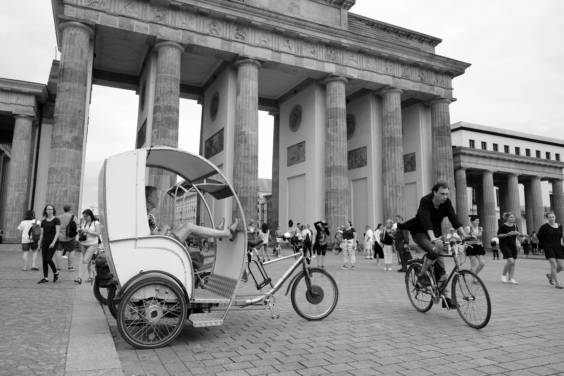 The famous Brandenburger Tor where the wall finally came down in 1989.