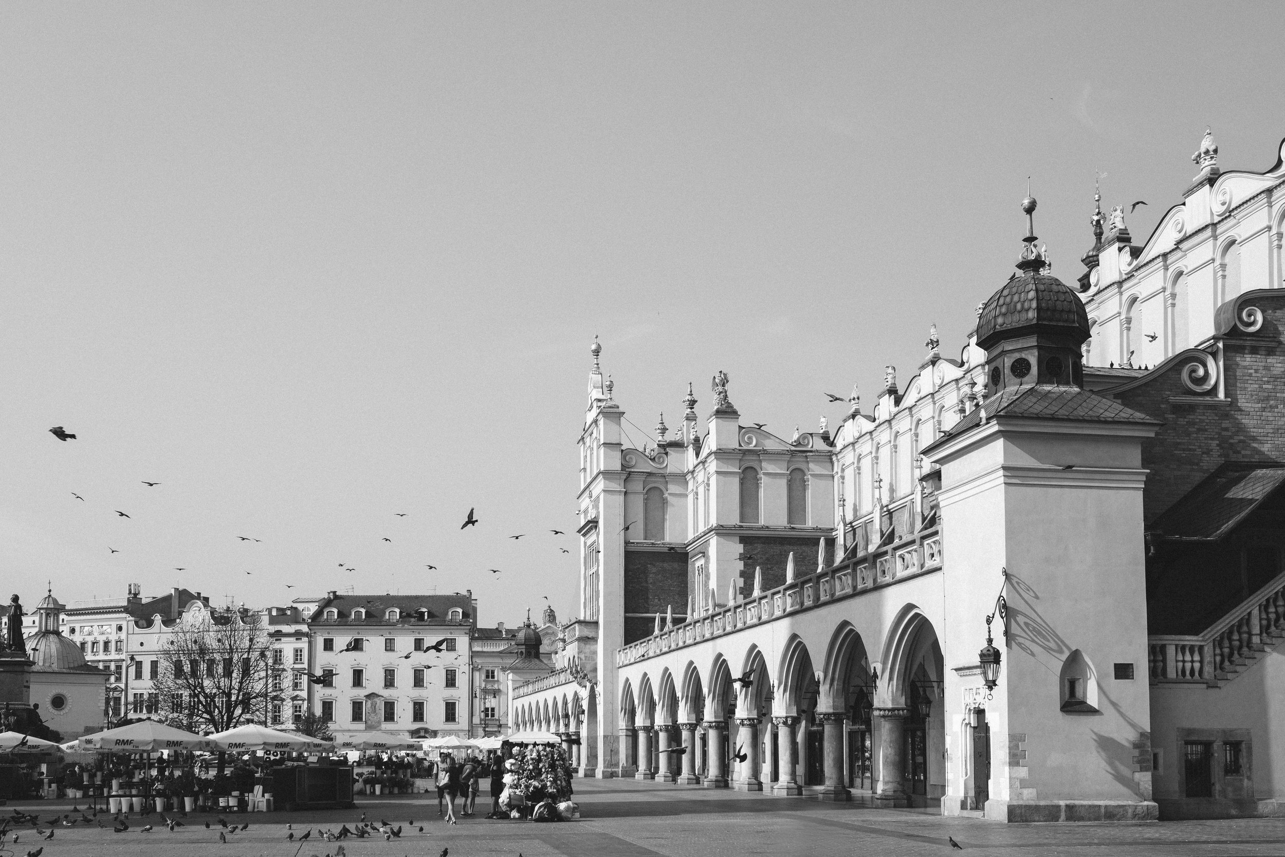 The Main Square and Cloth Hall in Old Town of Krakow Poland