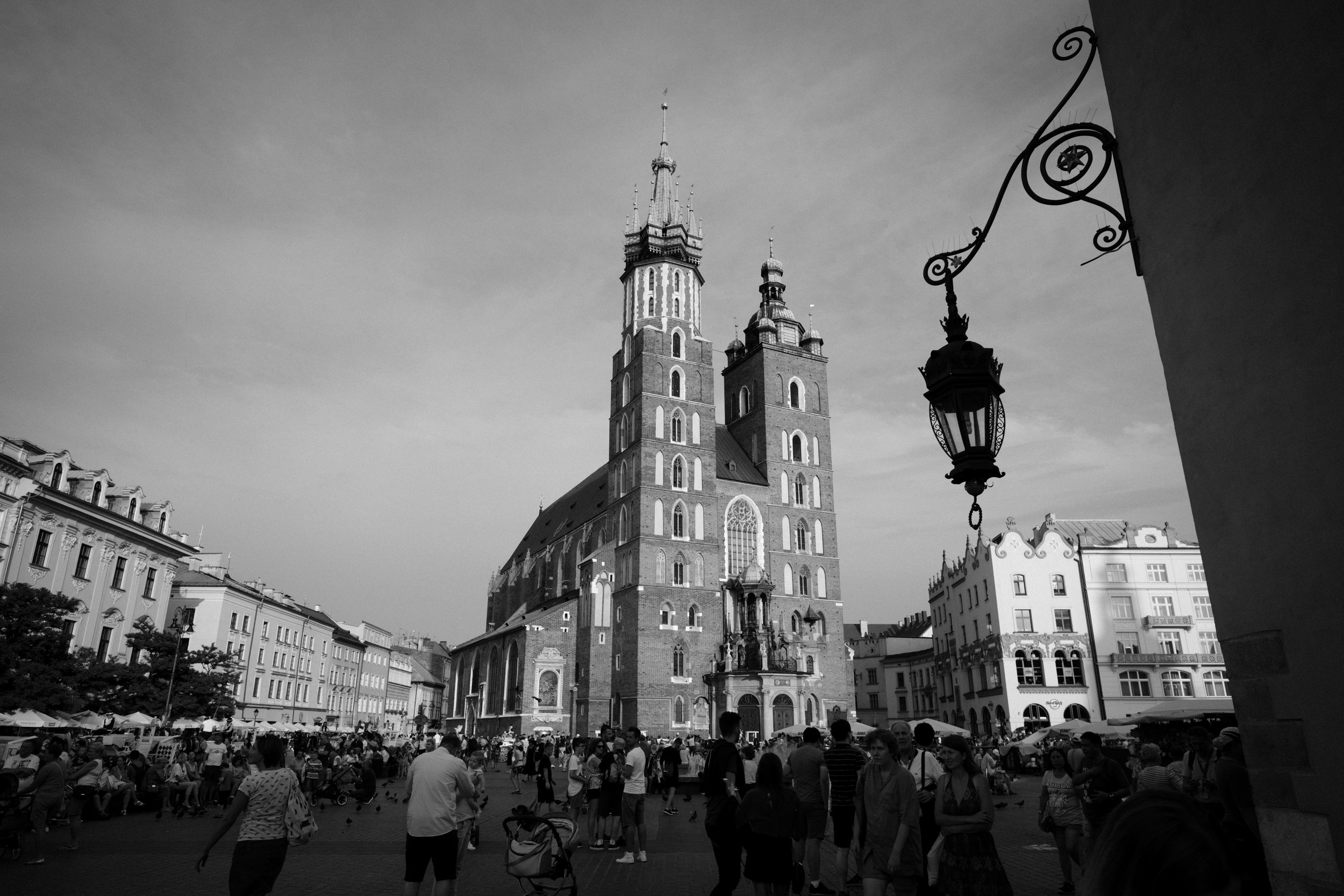St. Mary's Basilica in the Main Square of Krakow, Poland