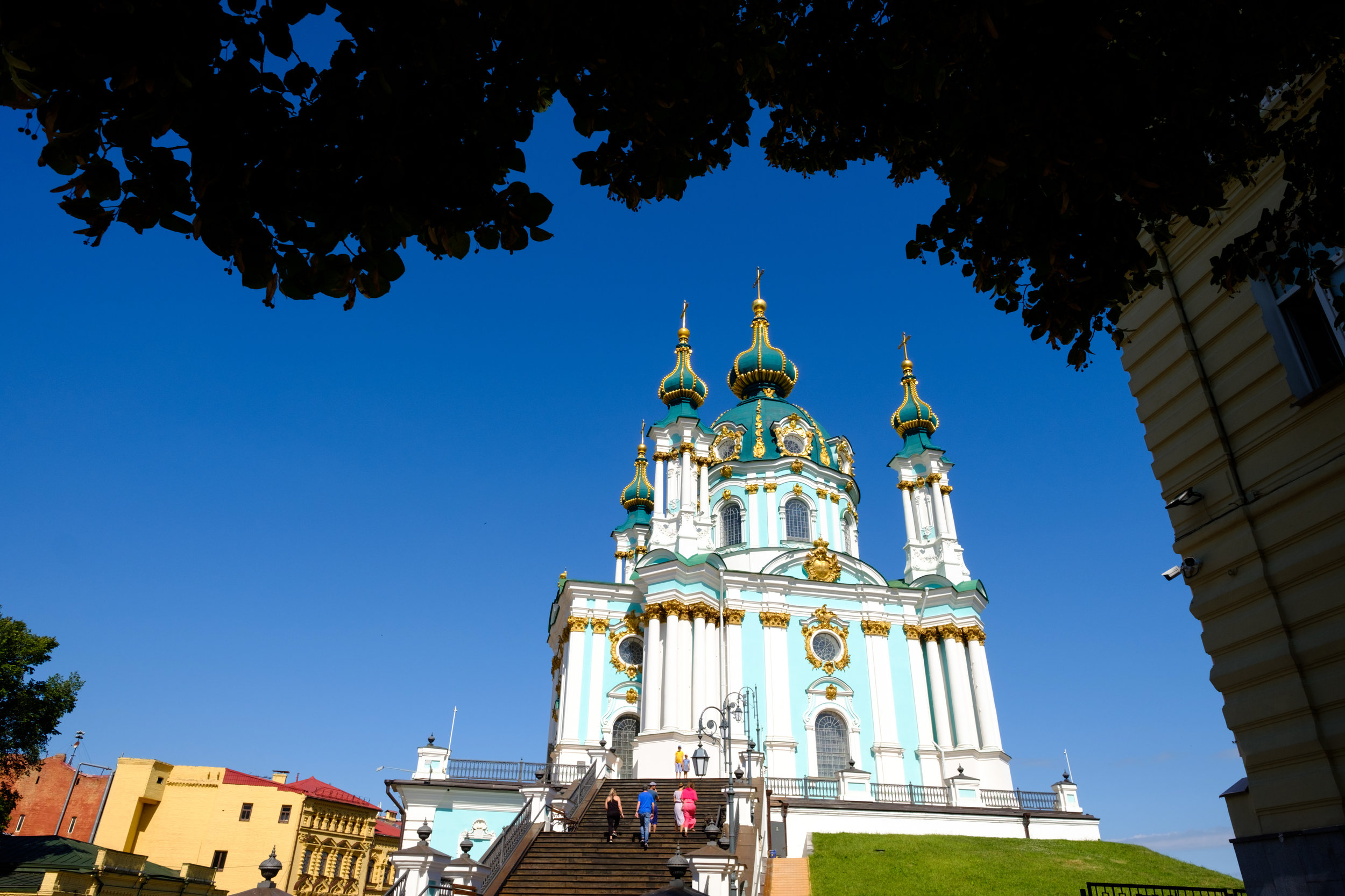 Blue Skies at Kiev Pechersk Lavra in Kiev Ukraine