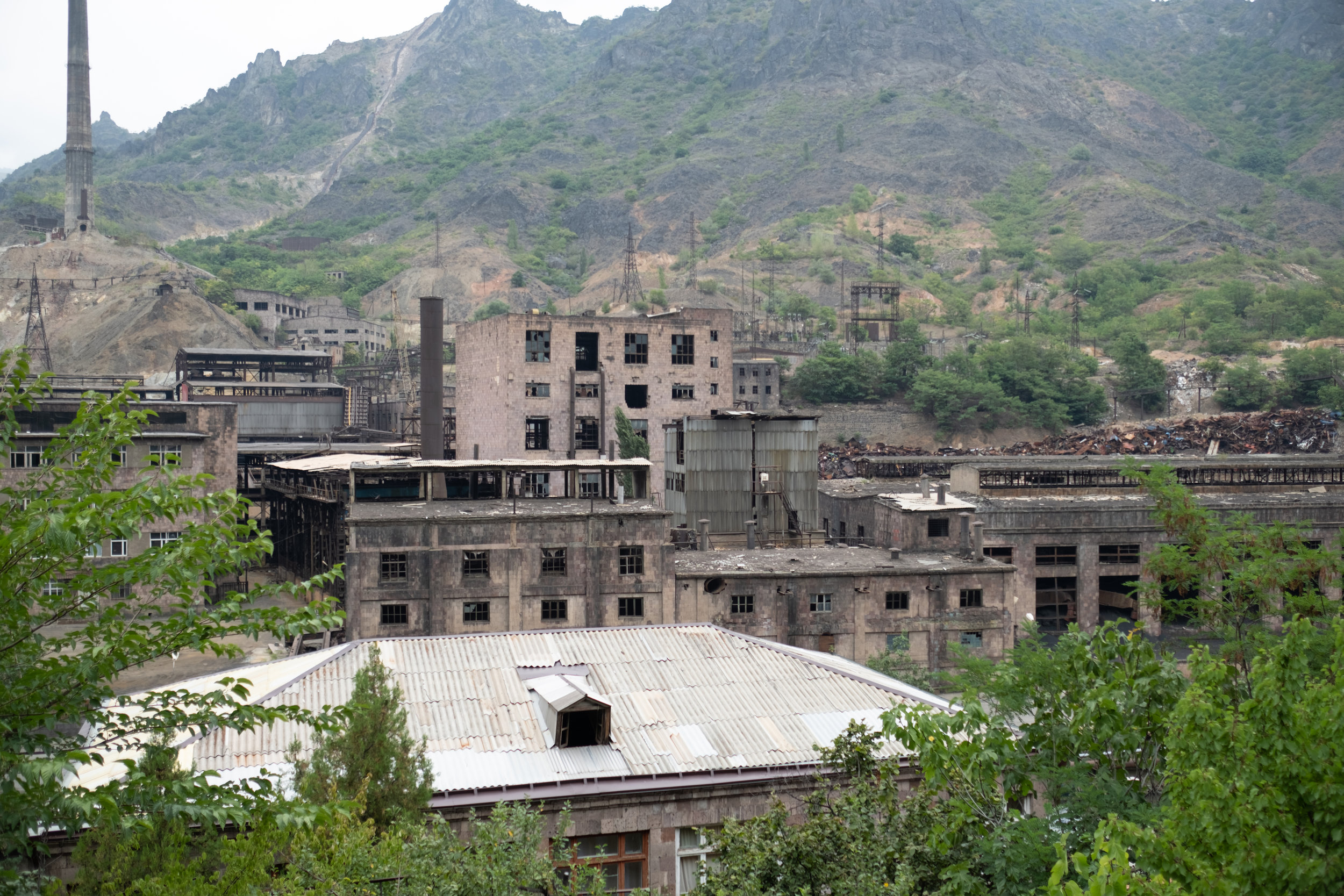 An old factory in the Debed Valley of Armenia