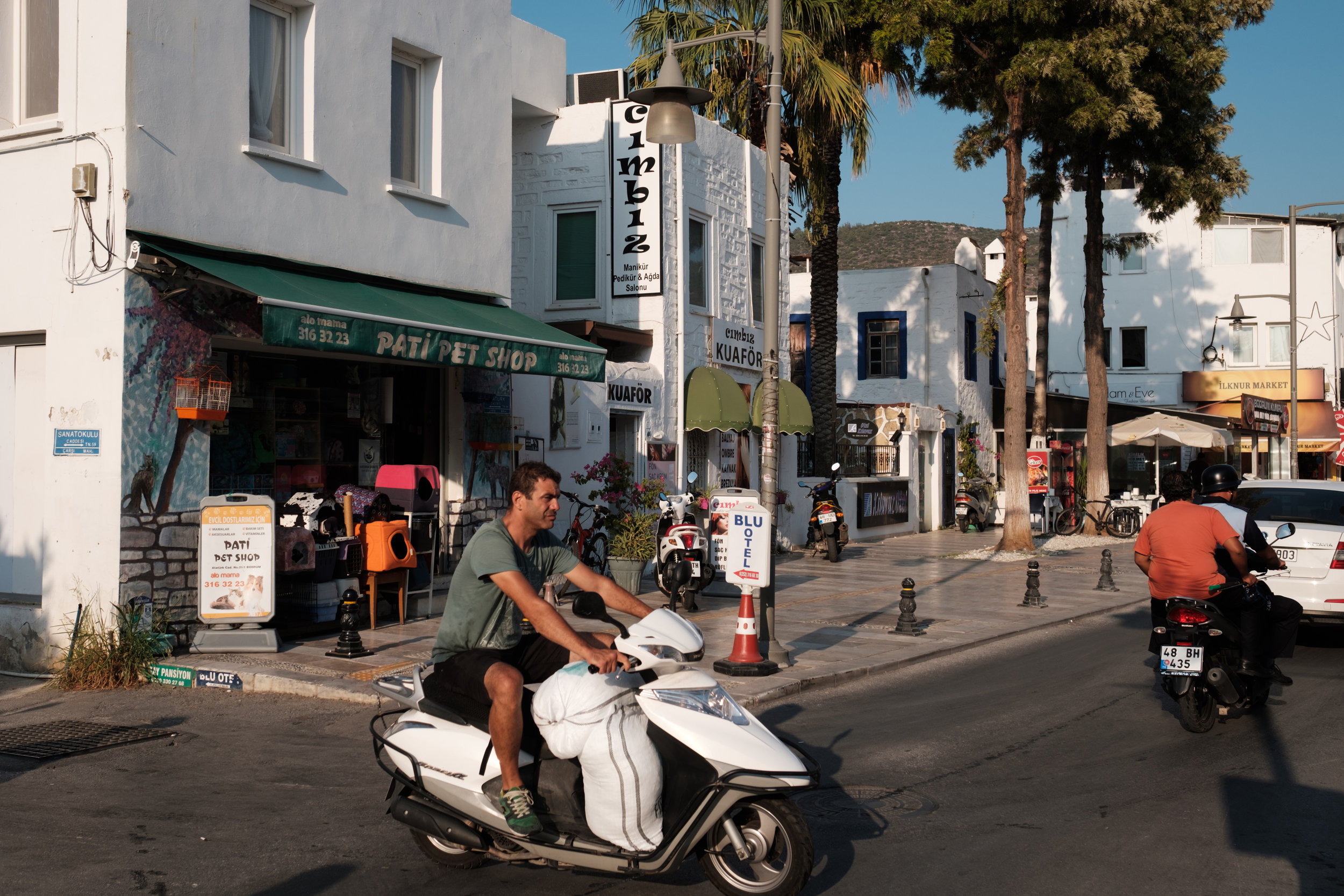 A scooter in the streets of Bodum Turkey