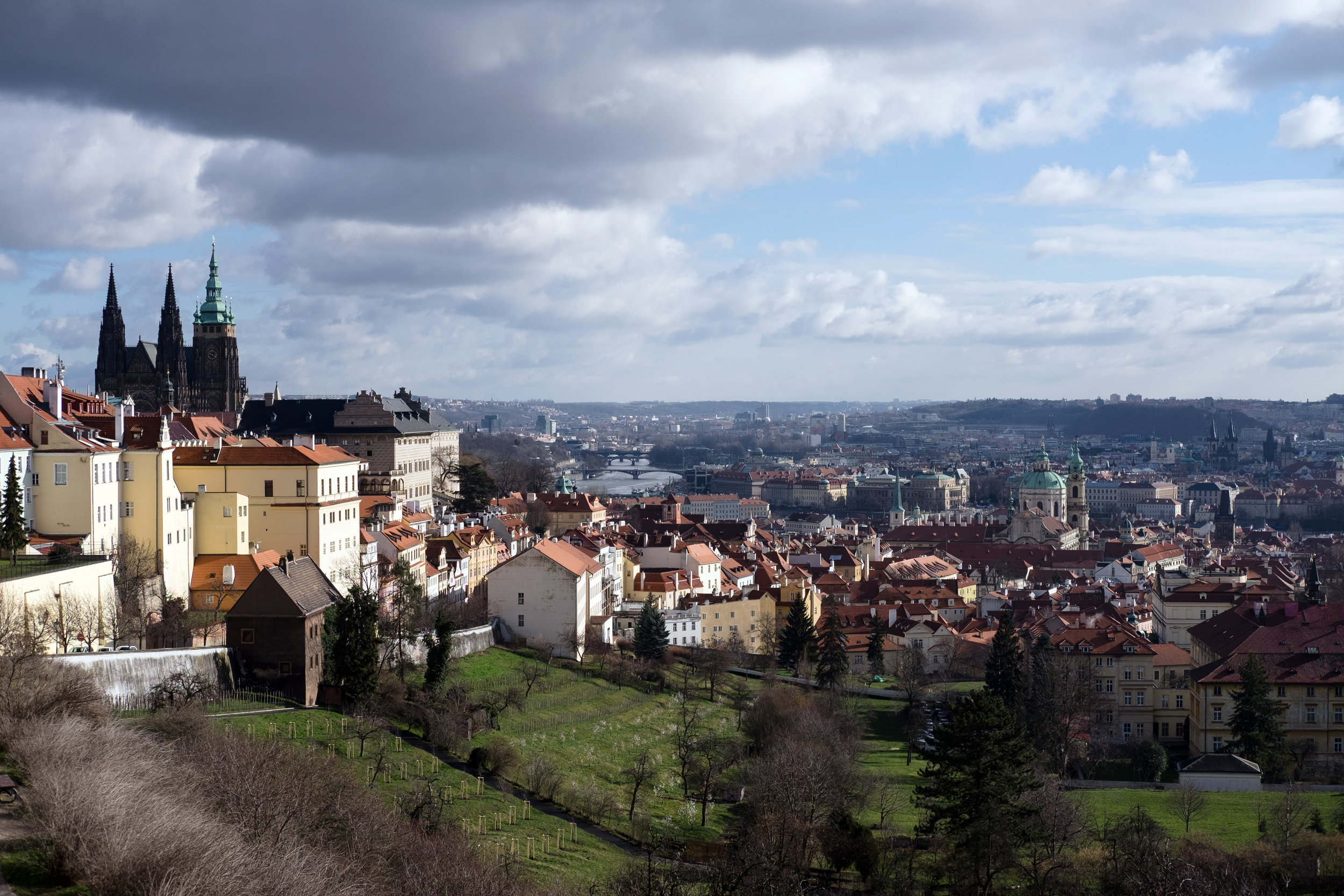 View or Prague from the Monastery Hotel above the cityl
