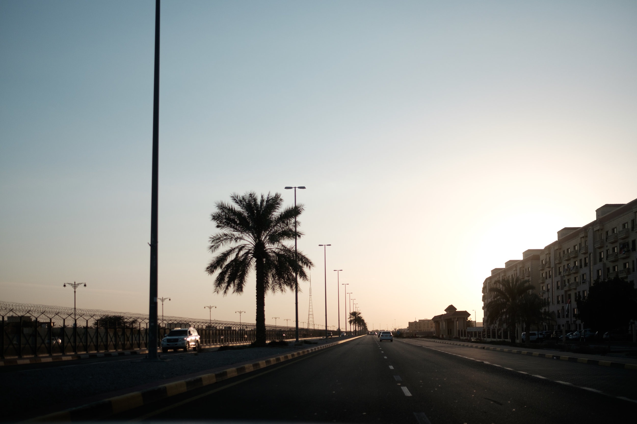 Evening drive along the Oman border