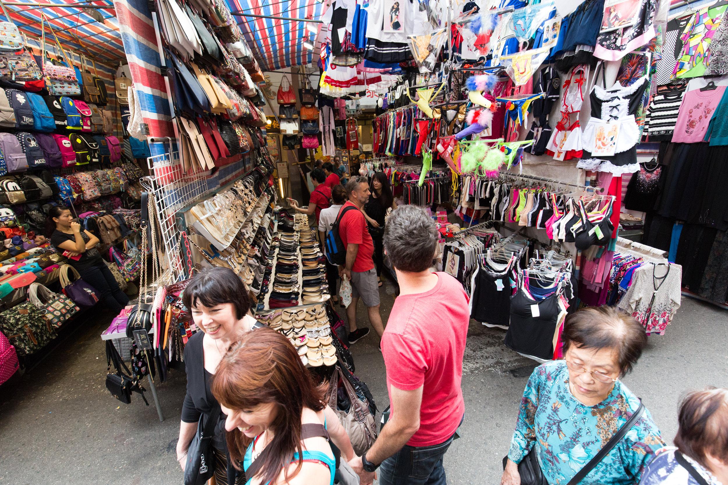 Fa Yuen Street market in Mong Kok, Hong Kong