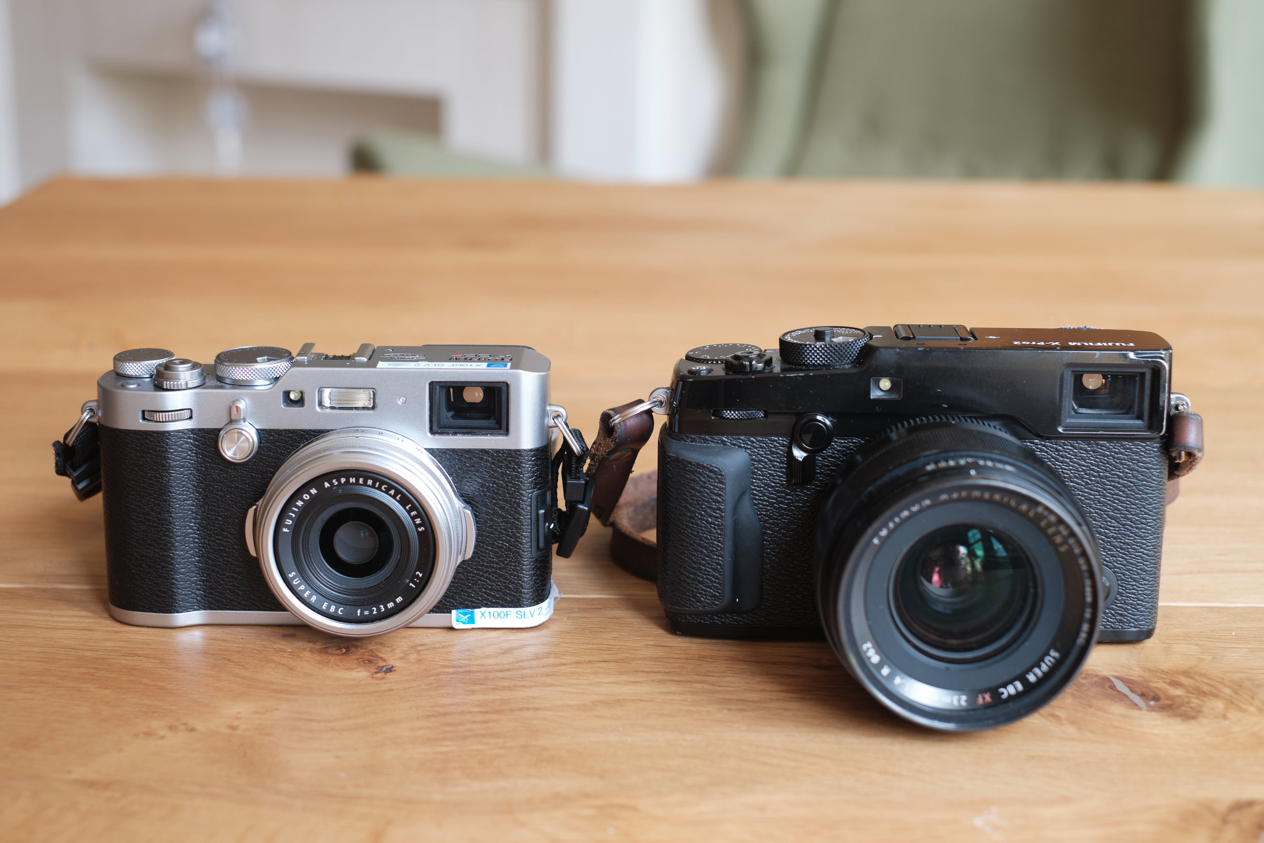 Fujifilm X-Pro2 with an XF 23mm f/1.4 R and Fujifilm X 100F size comparison