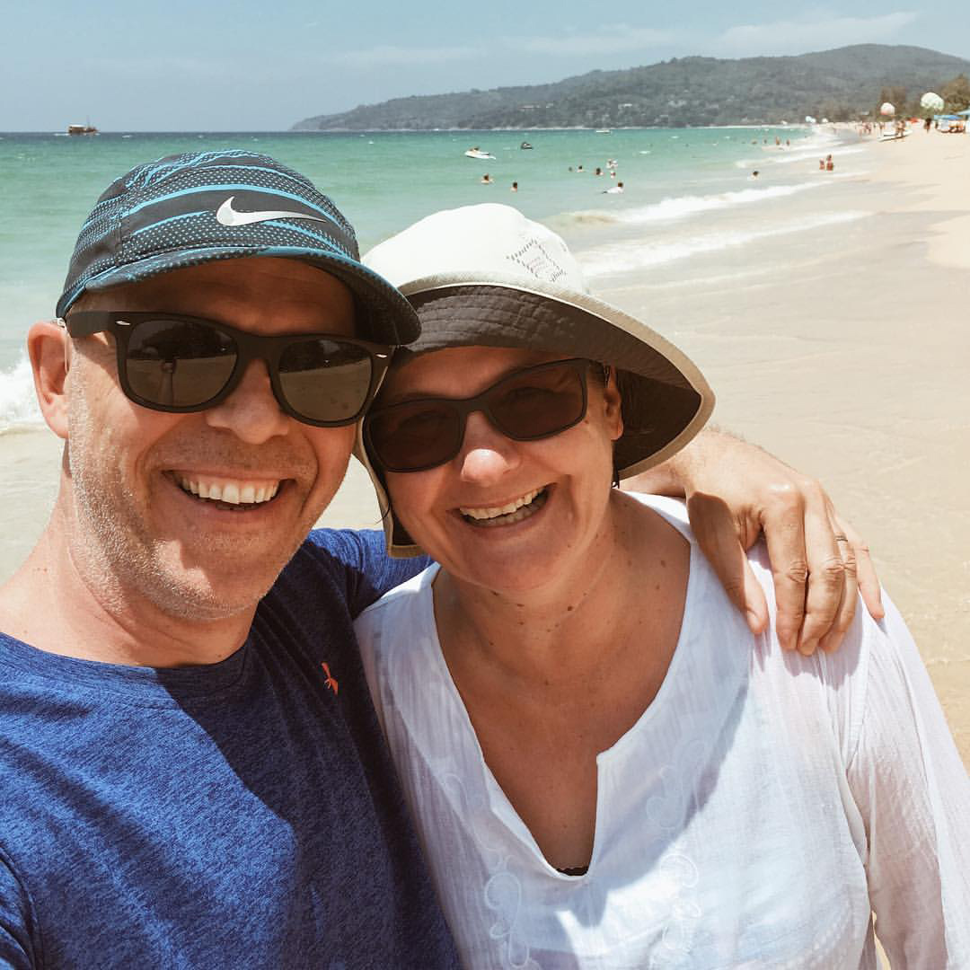 Morten and Diana - … on the beach in Phuket, Thailand