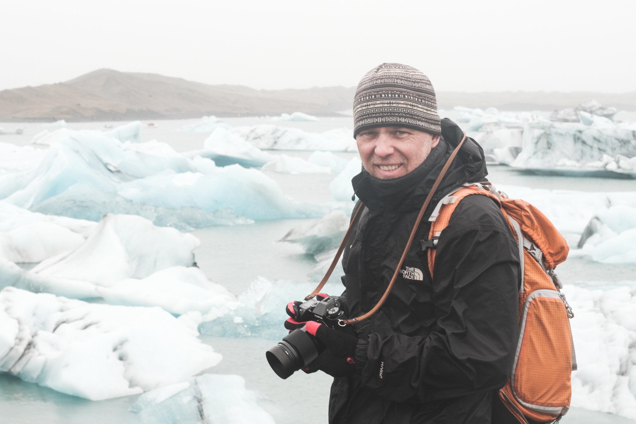 Morten - … at Jökulsárlón Glacier Lagoon in Iceland