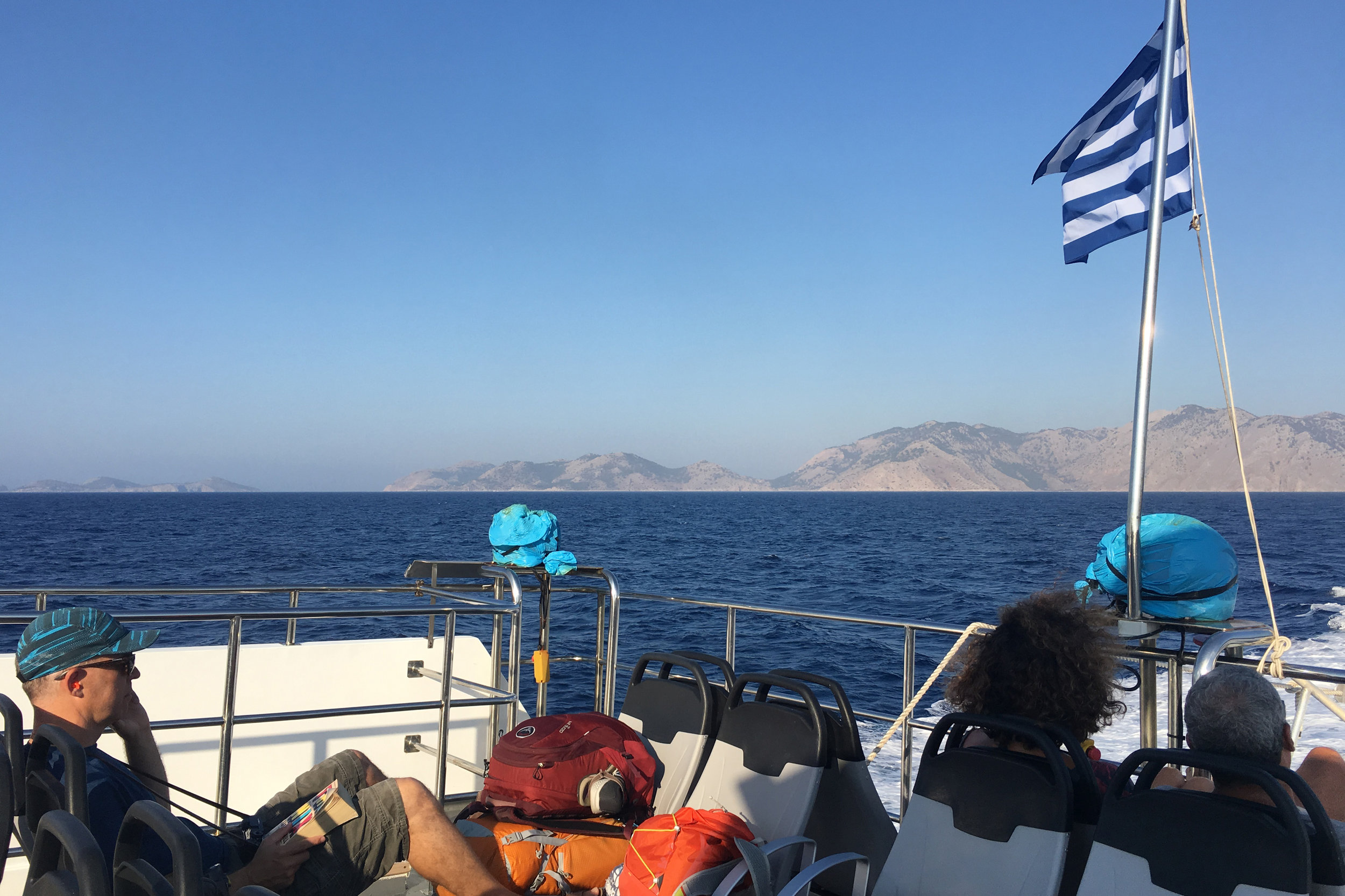 On the ferry from Symi to Rhodes