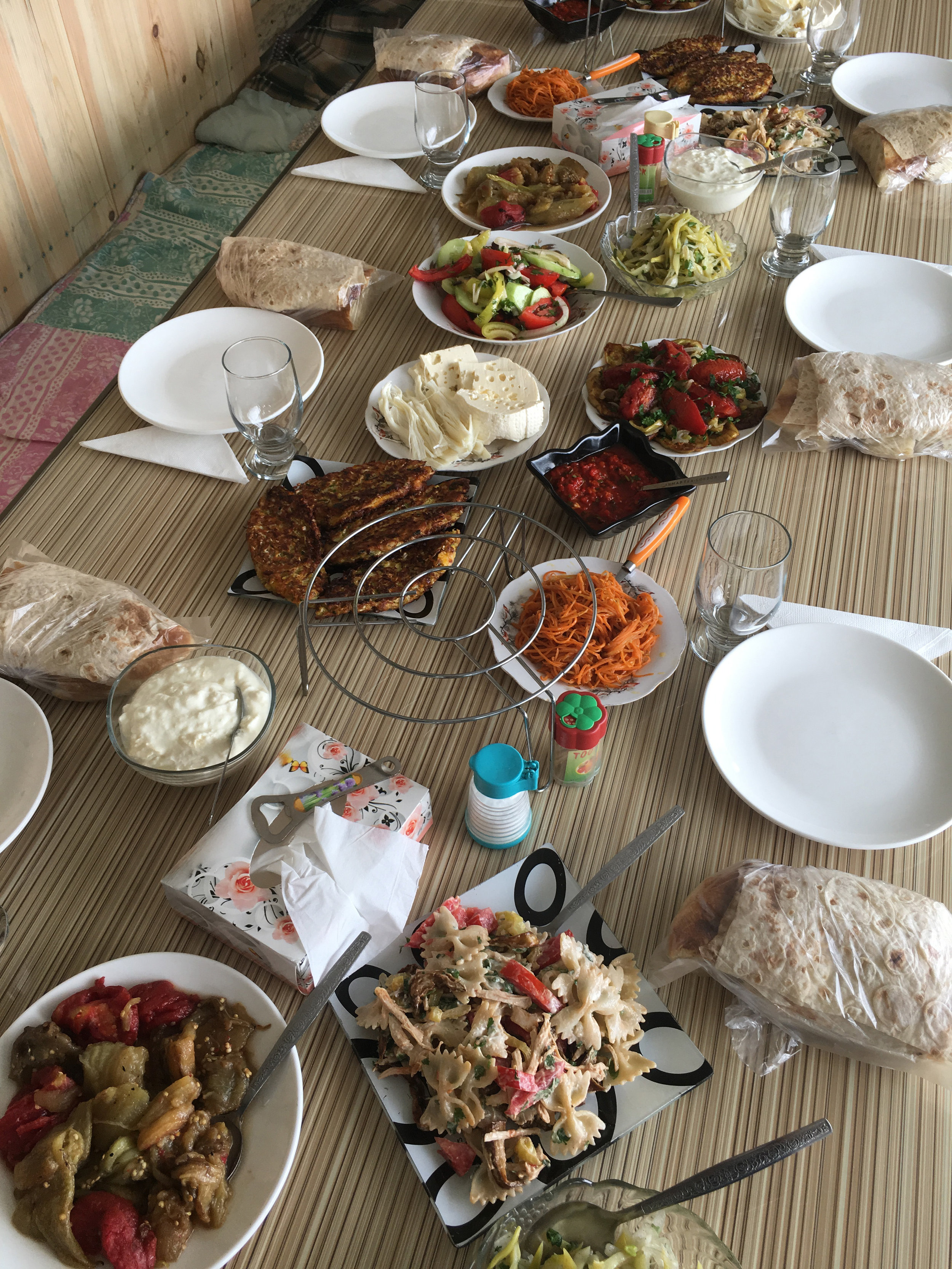 A phenomenal lunch served in a local host in Northern Armenia
