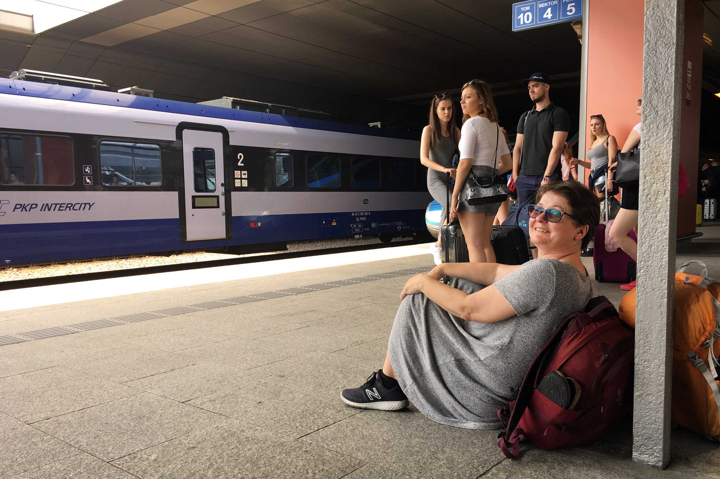 Waiting for the train to Ukraine at the Warsaw Train Station