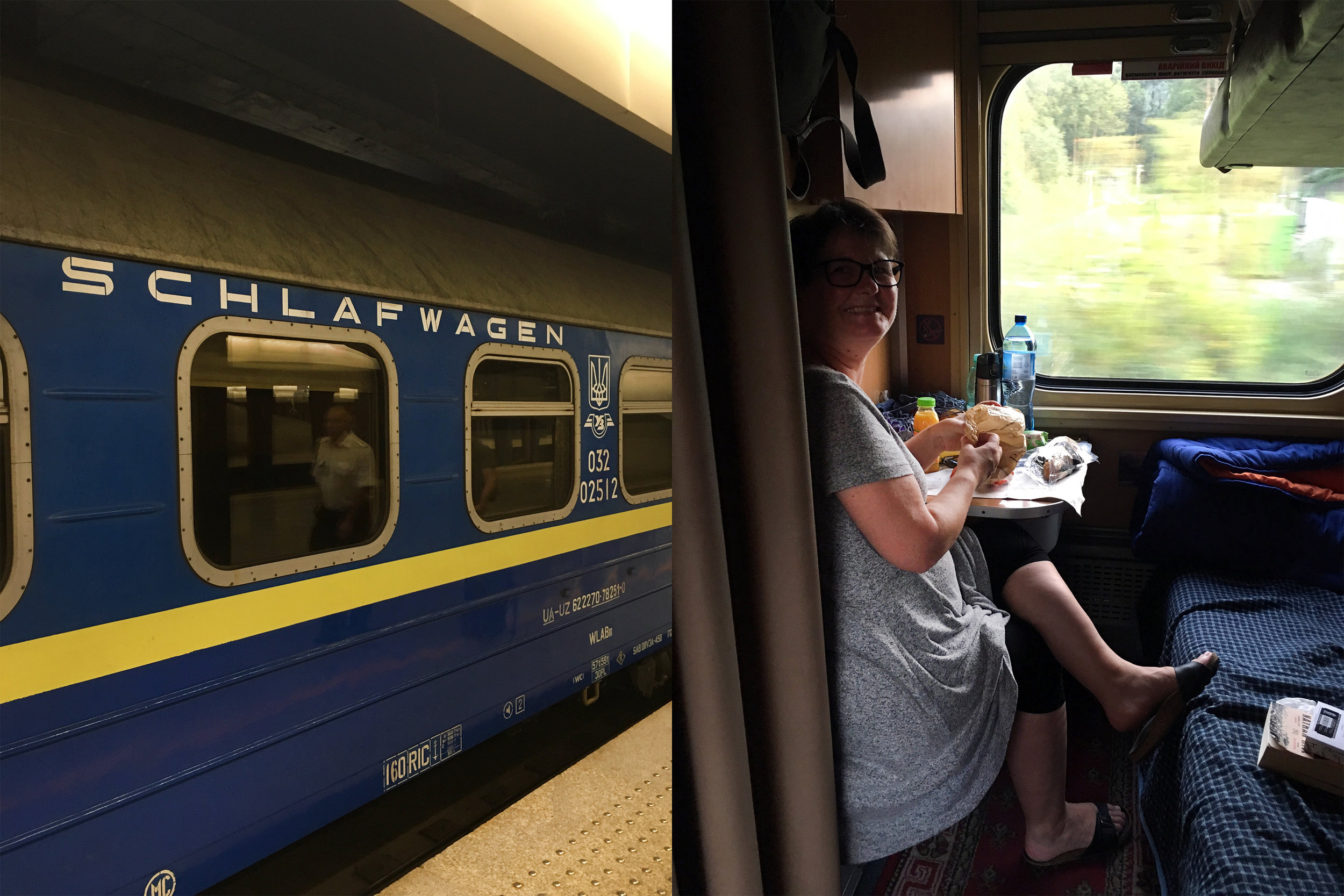 Sleeper Car from Warsaw Poland to Kiev Ukraine