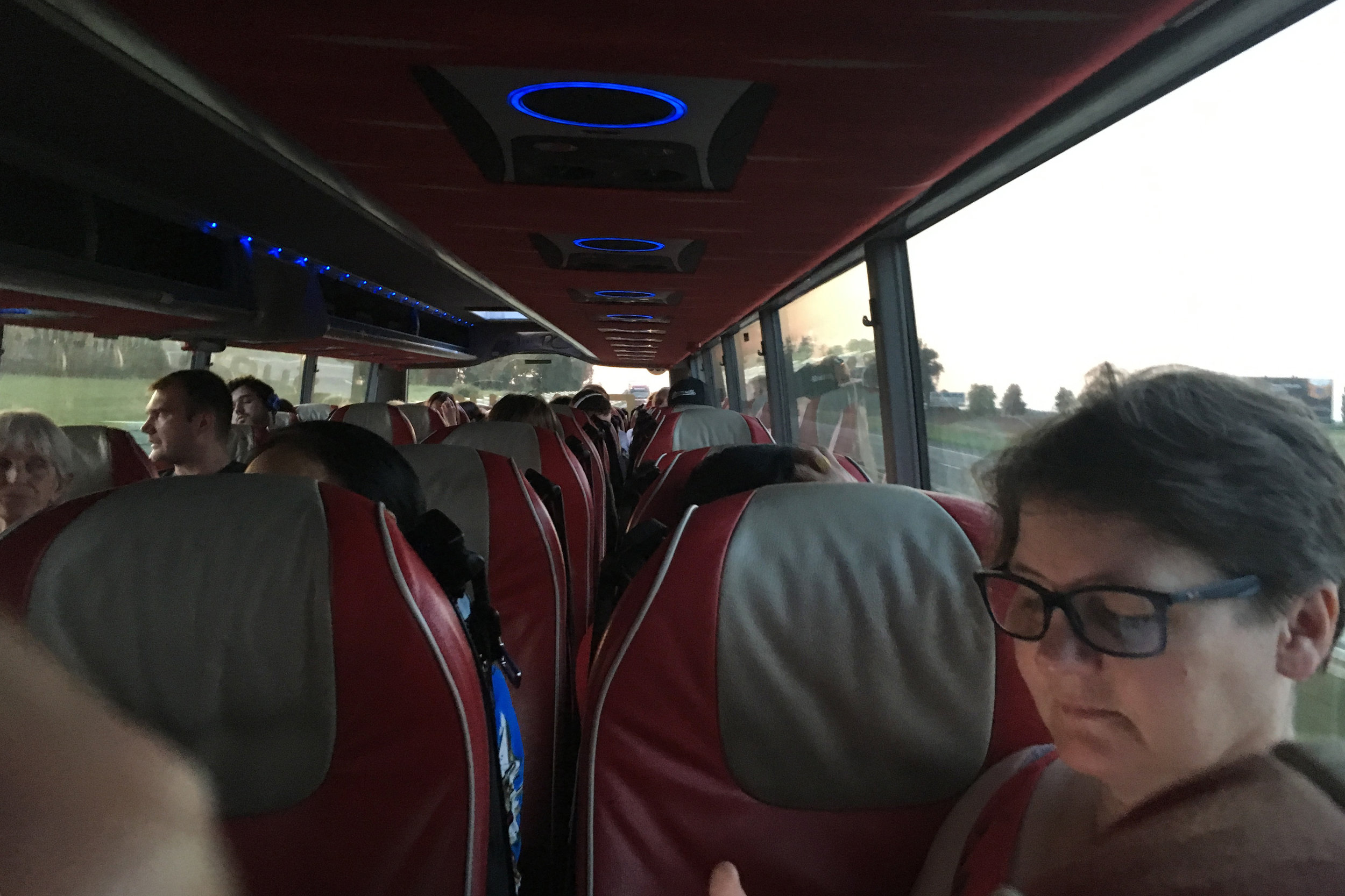 10 hour bus ride from Berlin to Krakow