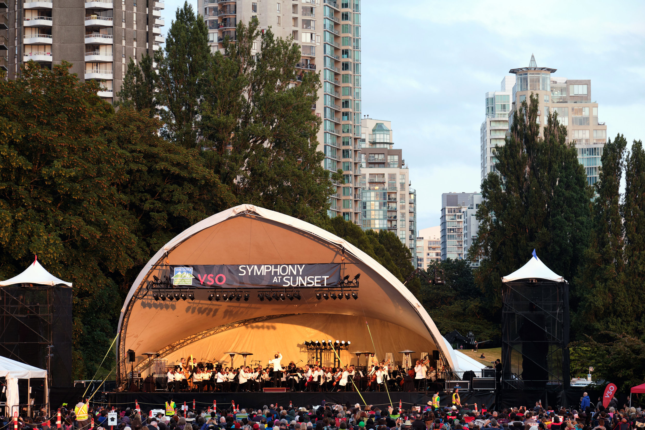 Symphony at Sunset in Vancouver, BC, Canada