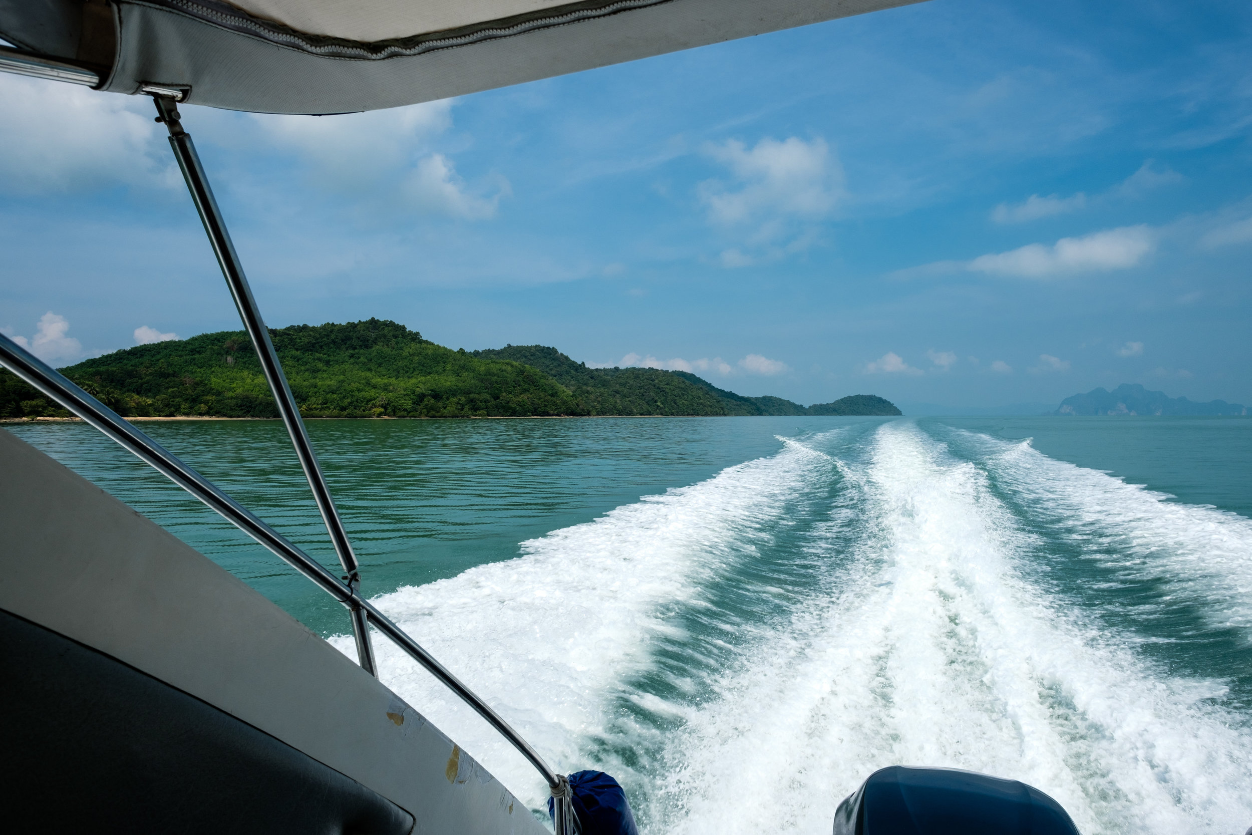 What a way to travel :) Speed boat from Phuket to Koh Ya Yai in Thailand