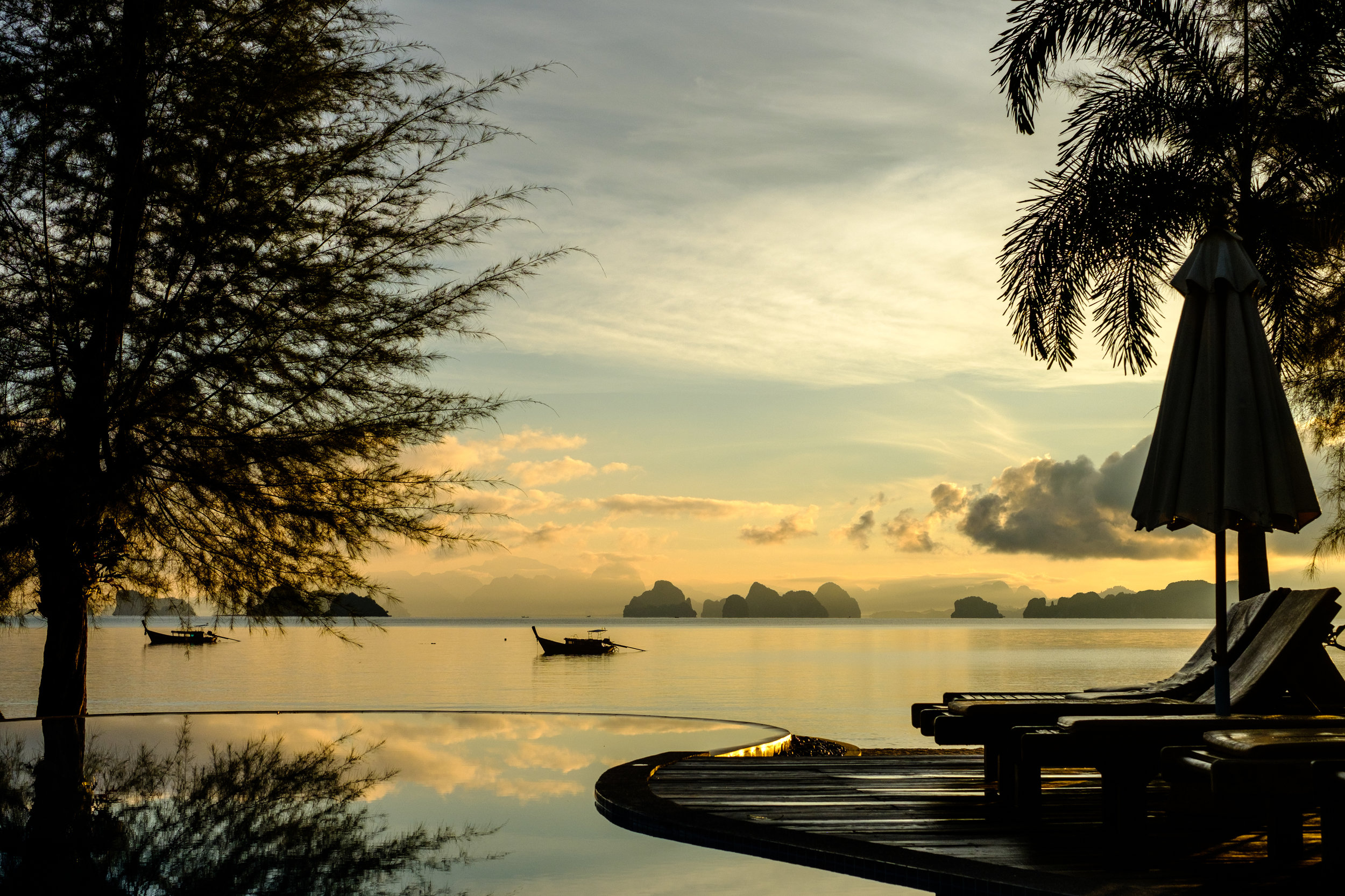Imagine waking up to this view a the Thiwson Beach Resort on the island of Koh Yao Yai in Thailand