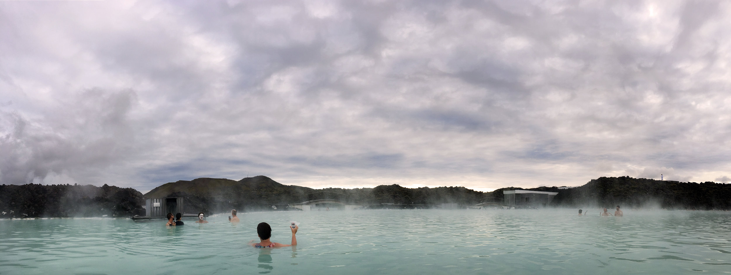 Di is enjoying a drink at The Blue Lagoon