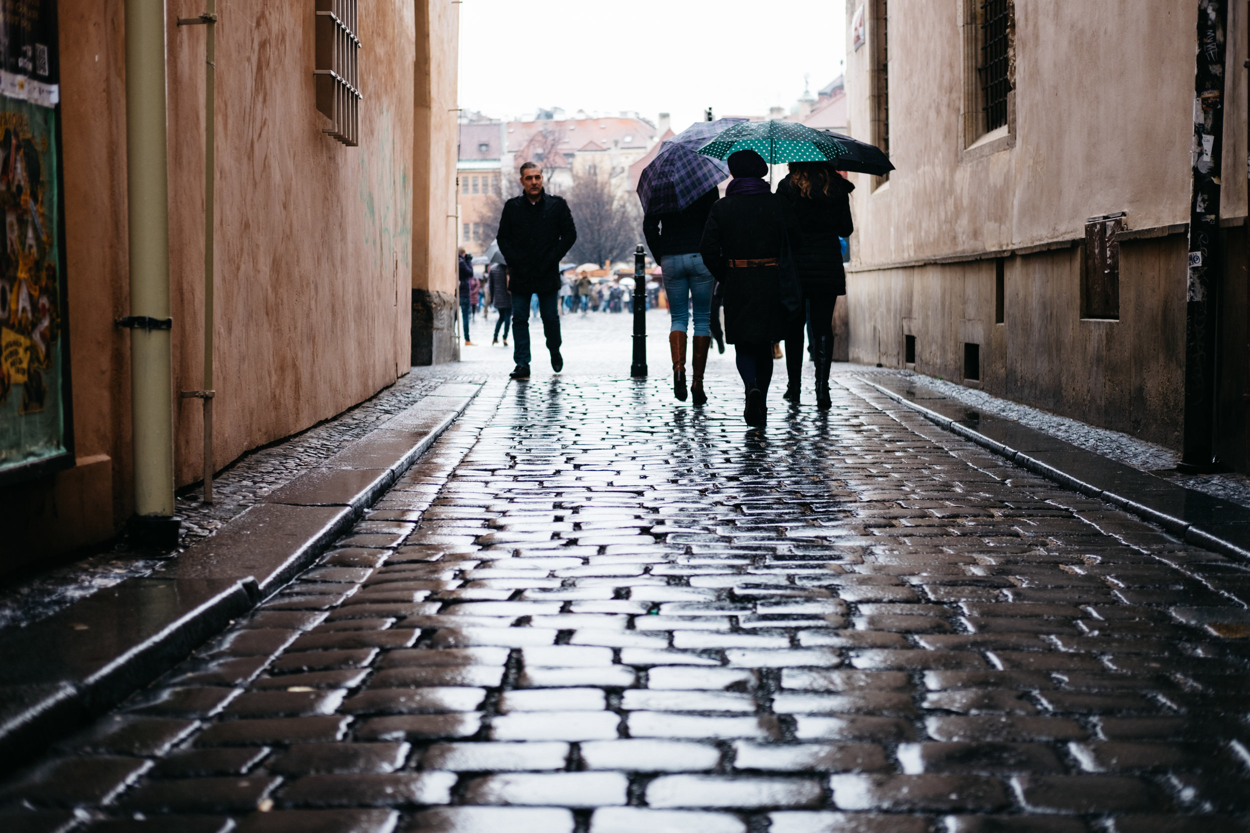 A rainy day in Prague made a great day of street photography