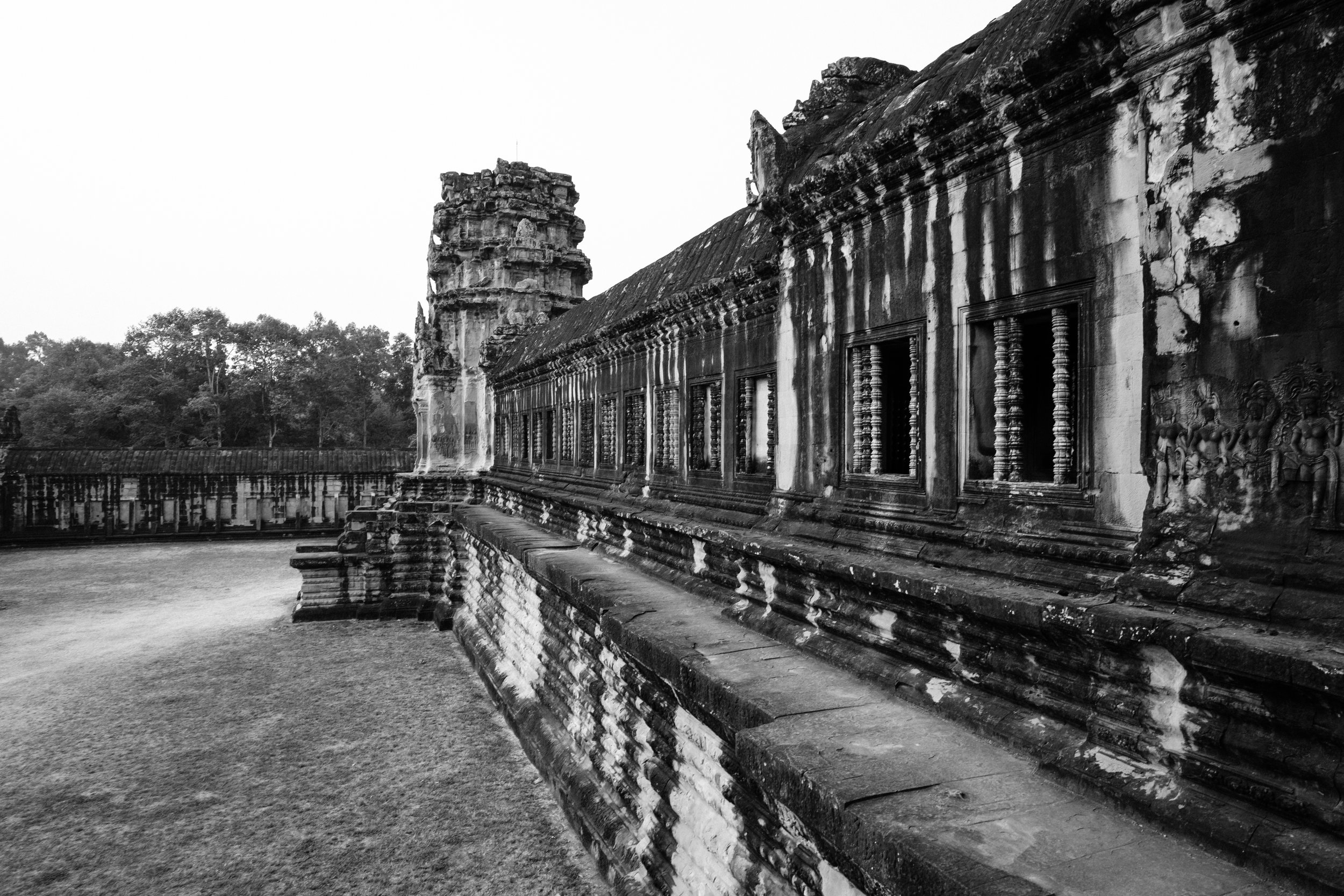 Angkor Wat in the early morning hours. We had the temple almost to ourselves.