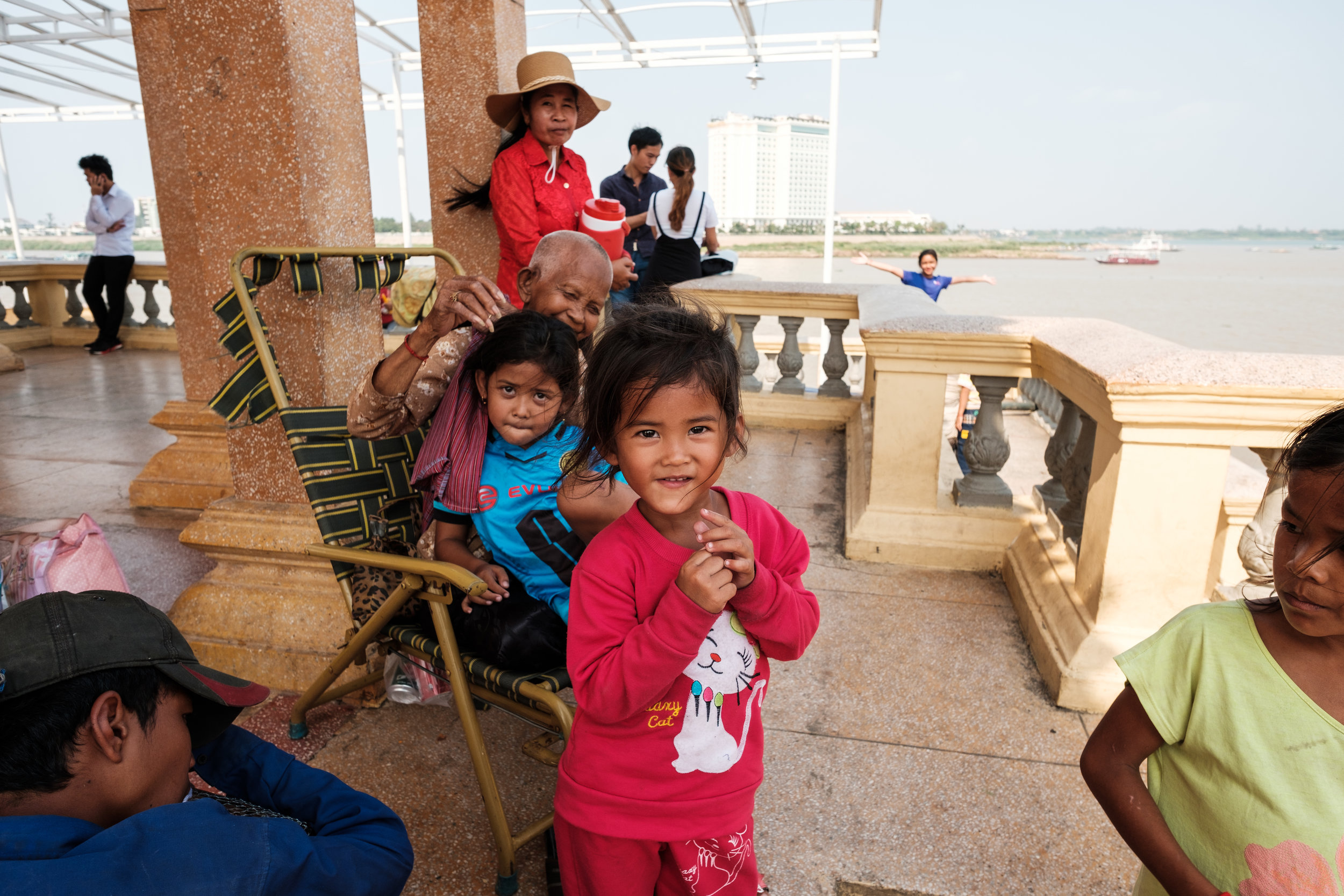 A family gathering in Phnom Penh Cambodia
