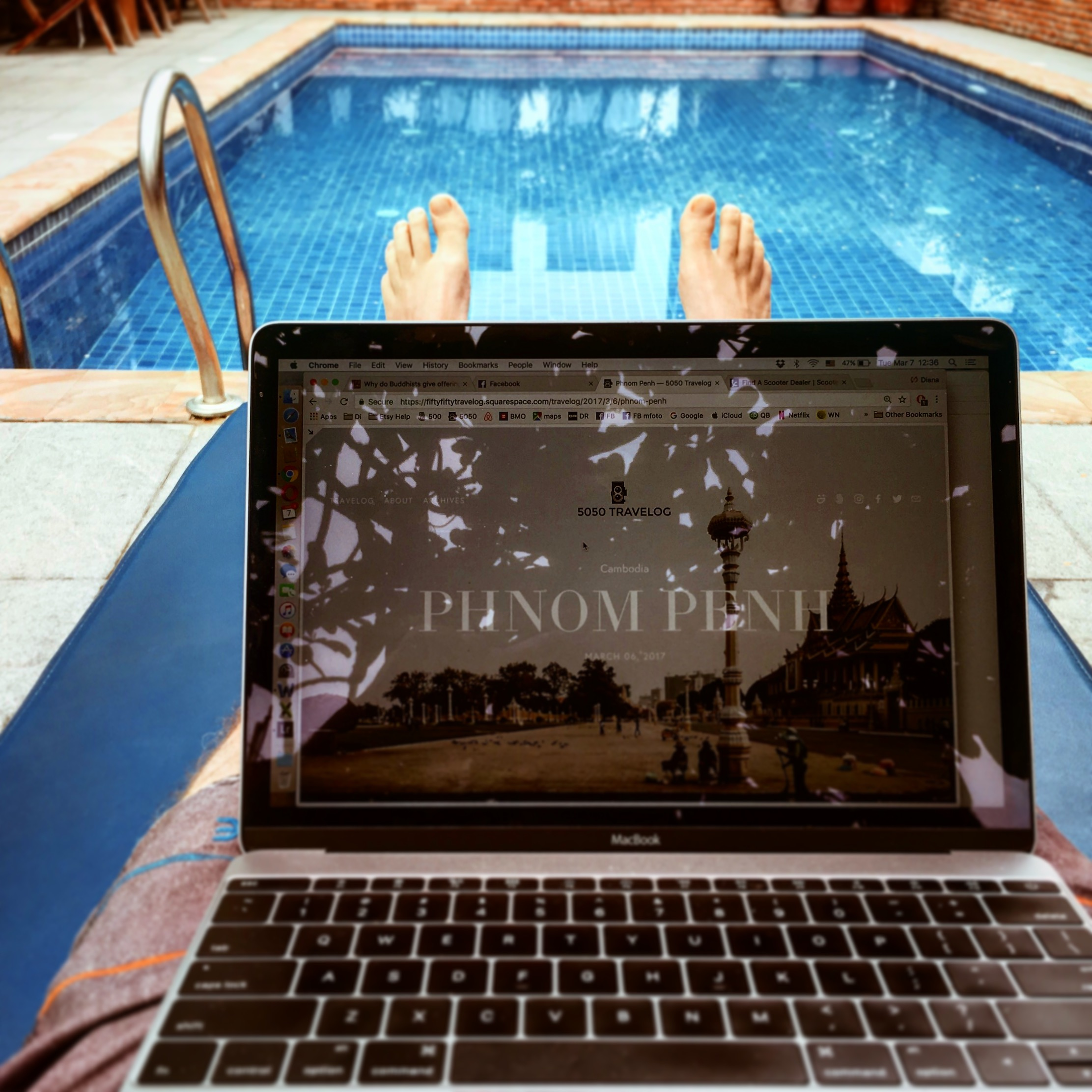 Blogging from our office at the Blue Corner Boutique Hotel in Phnom Penh.