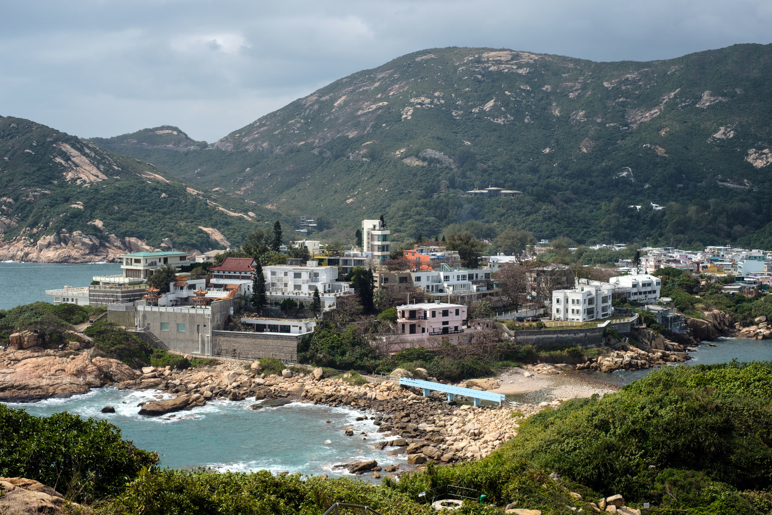 The coastal town of Shek O in Hong Kong